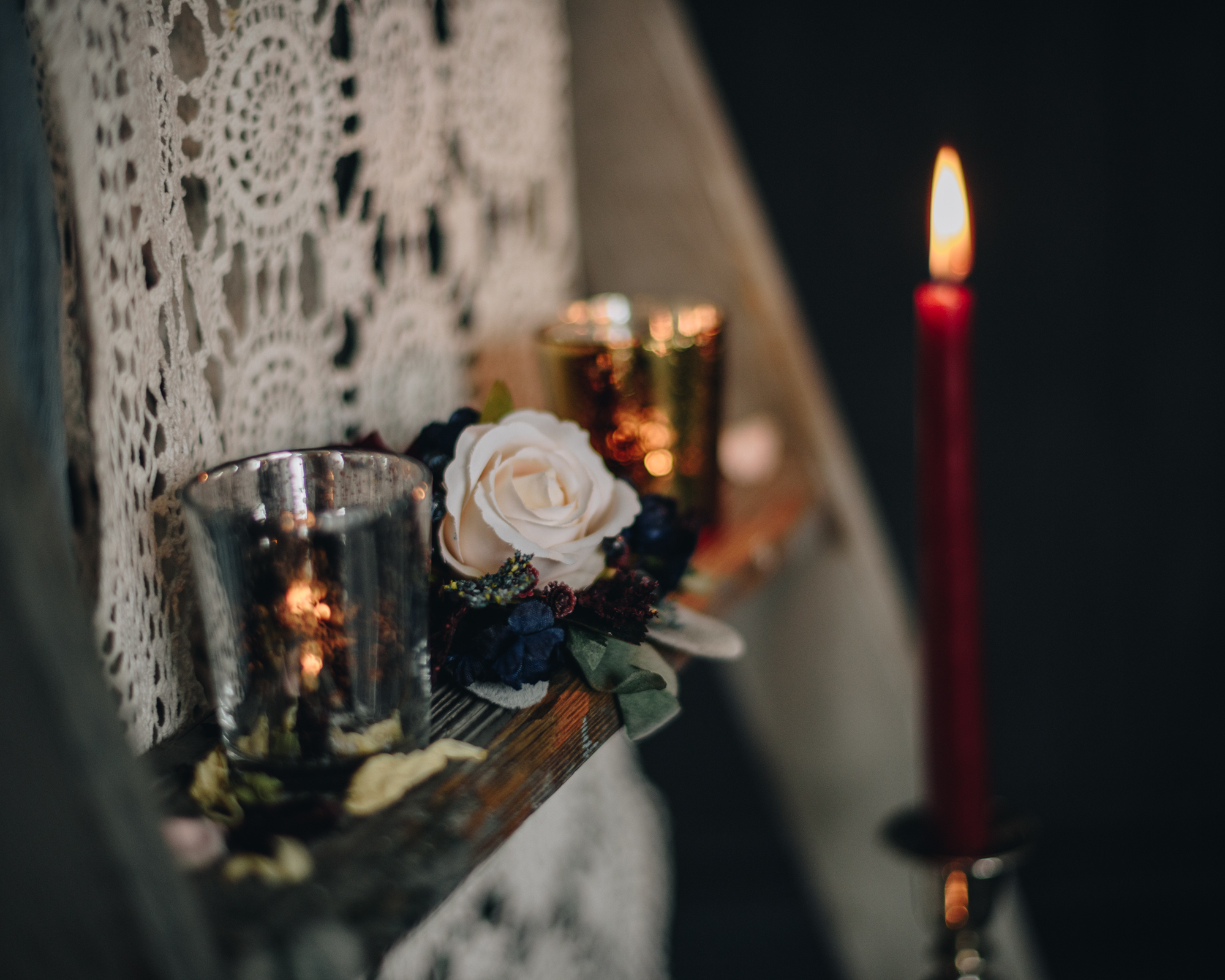 Wedding metallic votives