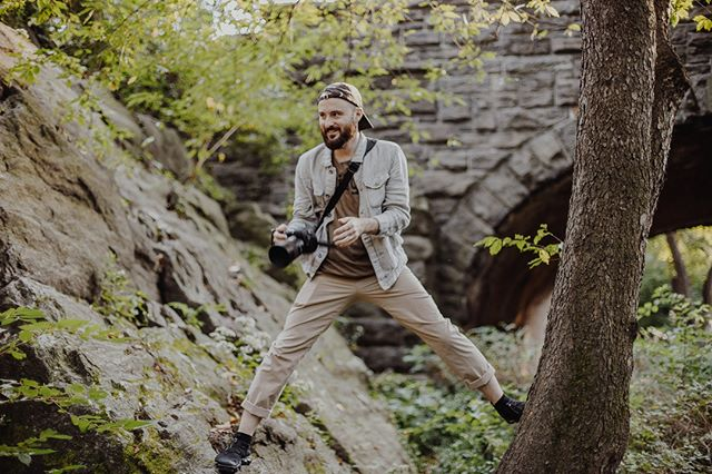 @kennethsterling likes to balance himself in precarious positions while photographing and YES it does terrify me 👀