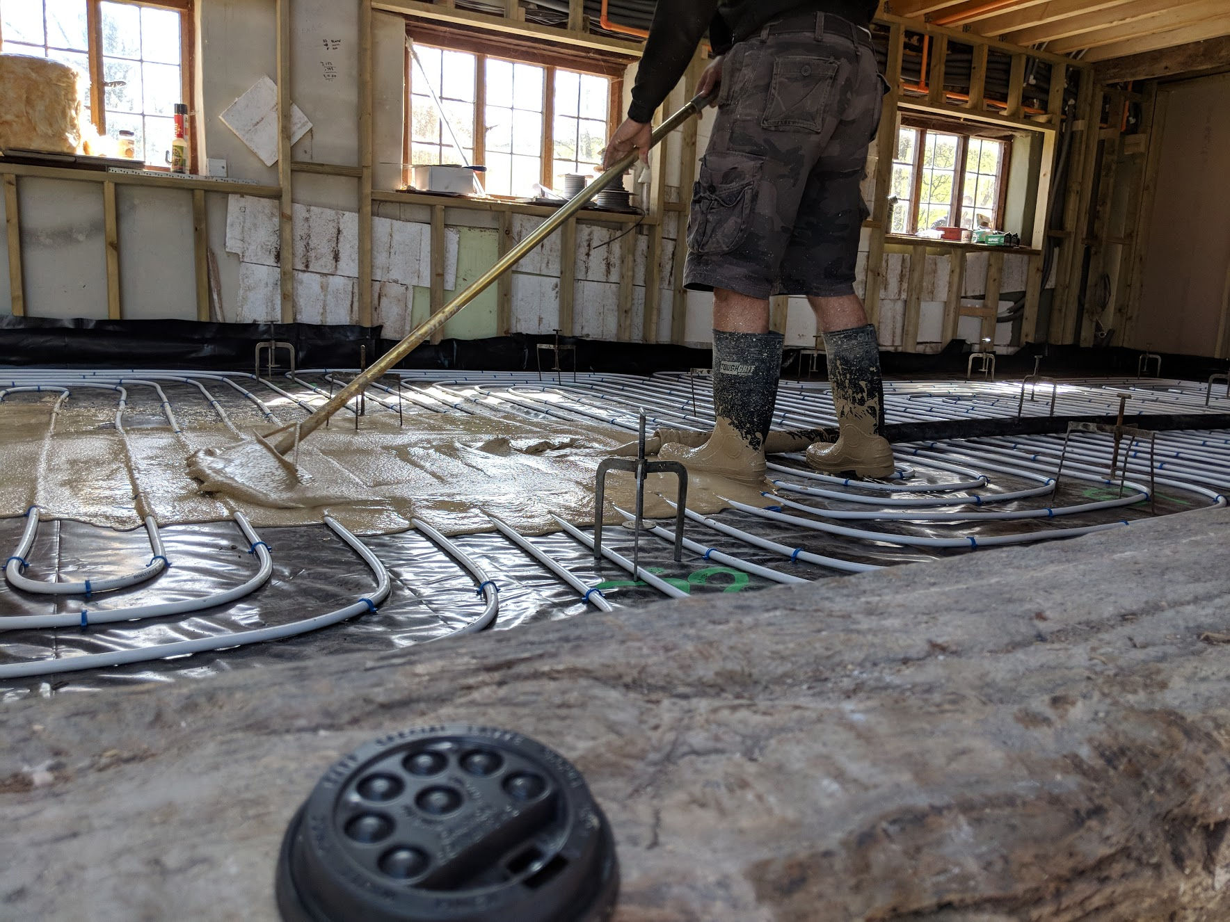 Over 100 square metres of underfloor heating