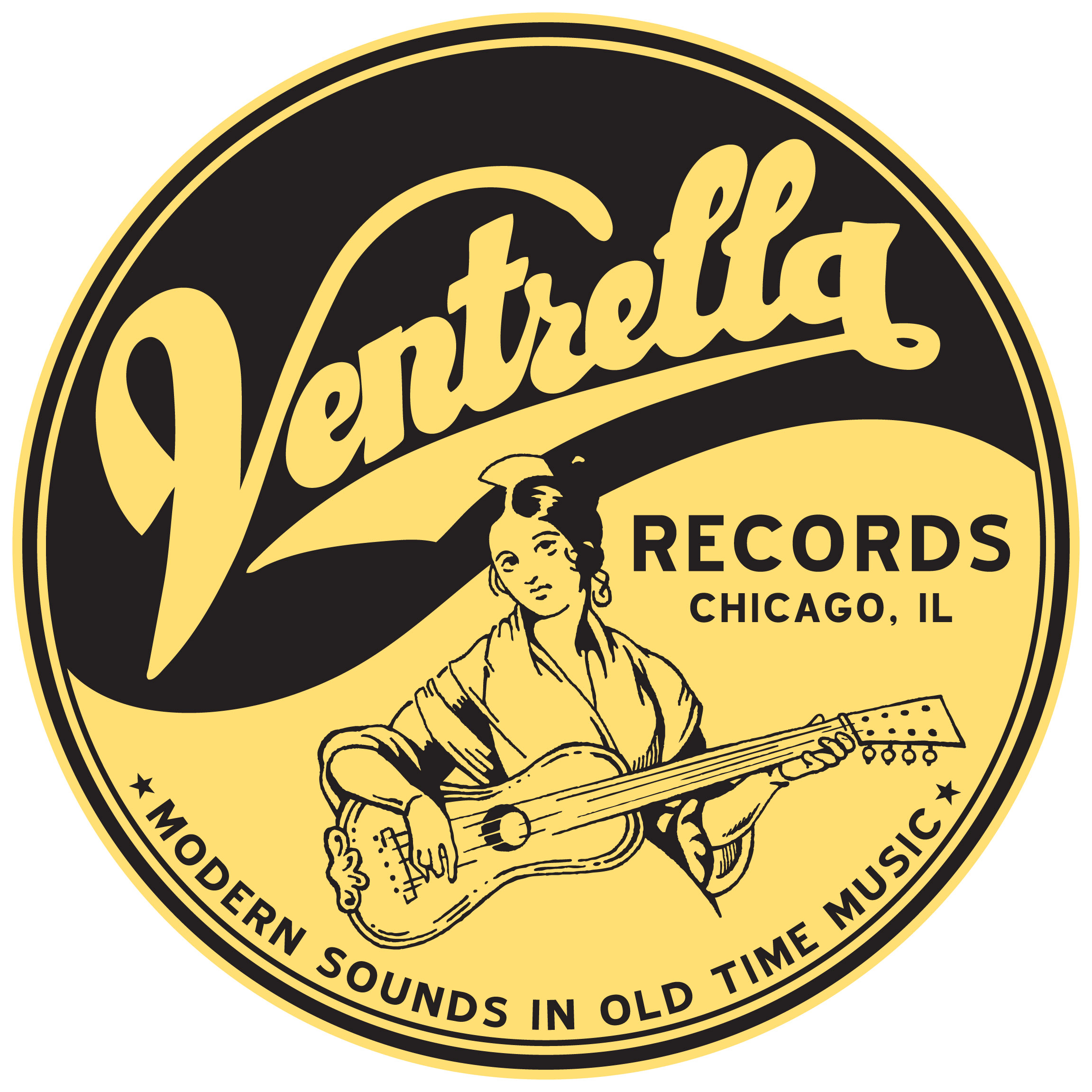 Ventrella Records logo, designed and illustrated by Joel Paterson