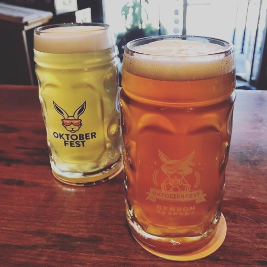 We have an Oktoberfest Special going on all month long! Buy a collector's Benson Brewery Oktoberfest glass for $9 and get $3 refills on that glass through Oct. 31st!