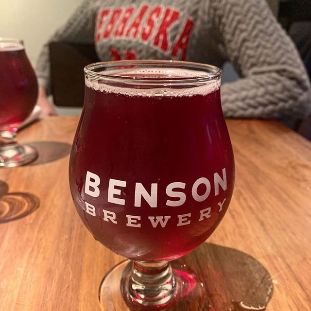 "Repost @mols17: ""Delicious blackberry cider @bensonbrewery. Great food, drinks, and conversation - like always! #veganwings #yumyumyum #benson""  Thank you Molly! 🍻🍴♥️"
