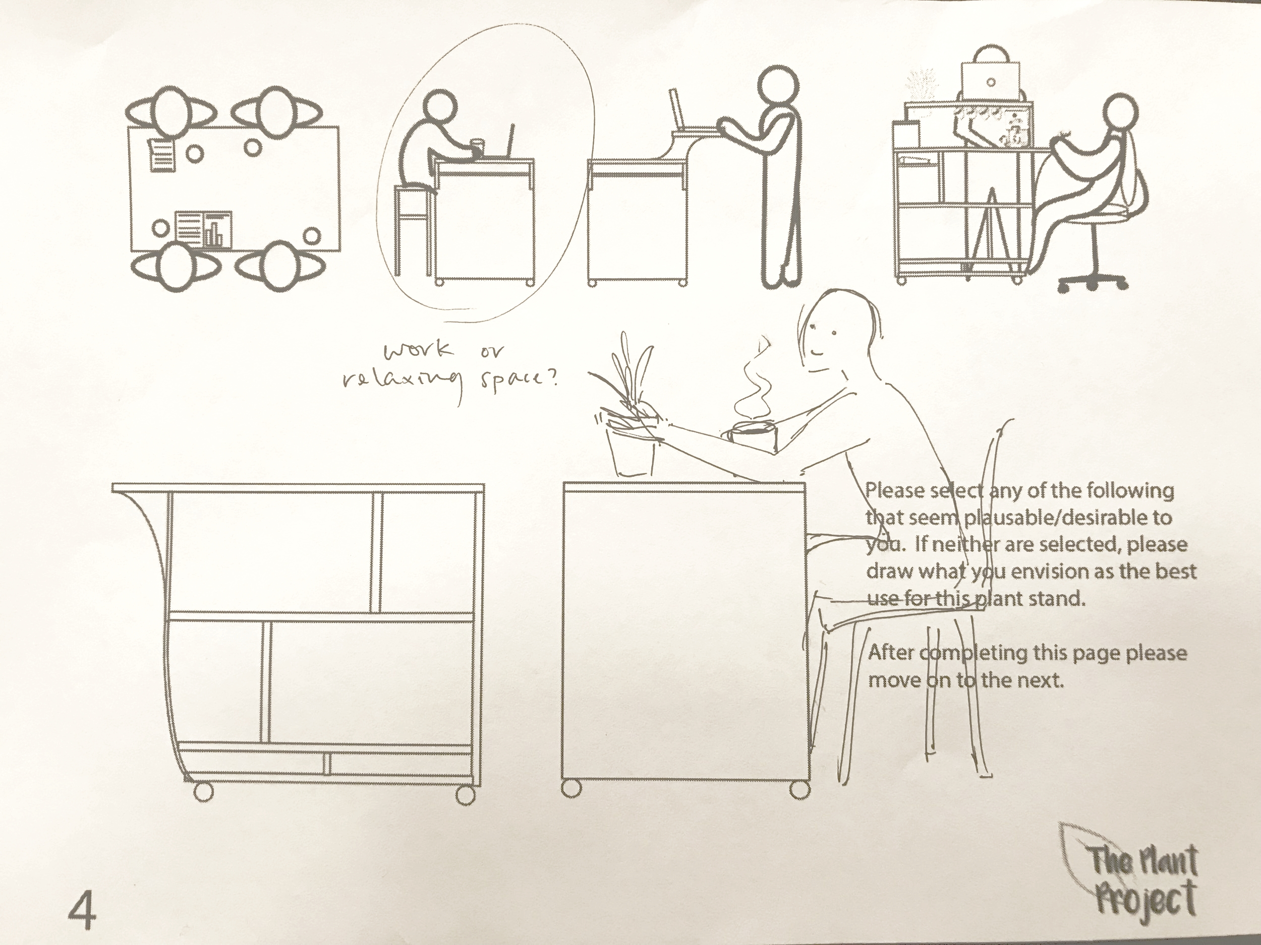 Finding the Potential - After sending out another form about ideal interactions with the cart I found that people had a desire to be able to sit and engage with the items or plants at the cart for a longer time.