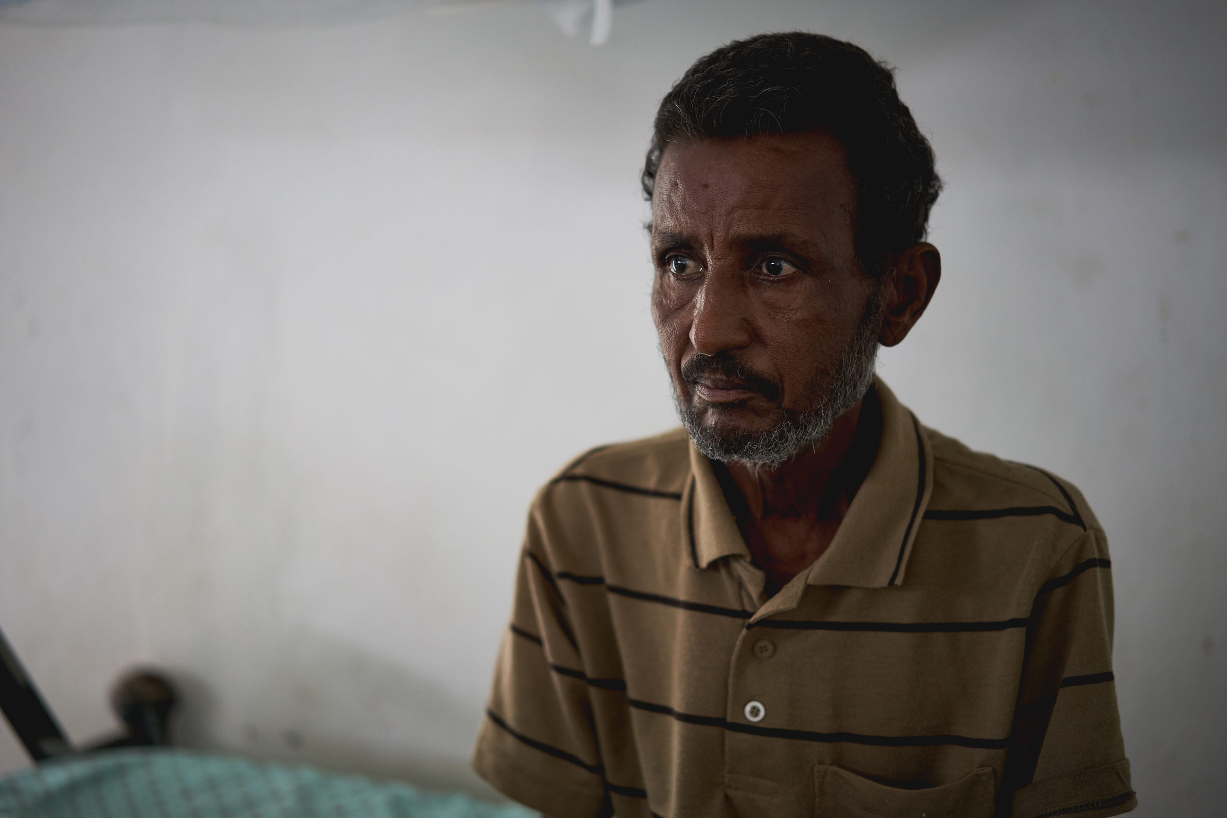 Wubet, 48, is a primary kala azar patient with HIV co-infection. He is being treated by MSF in Abdurafi, Ethiopia and is part of the kala azar research programme led by MSF and Antwerp Institute of Tropical Medicine (ITM).