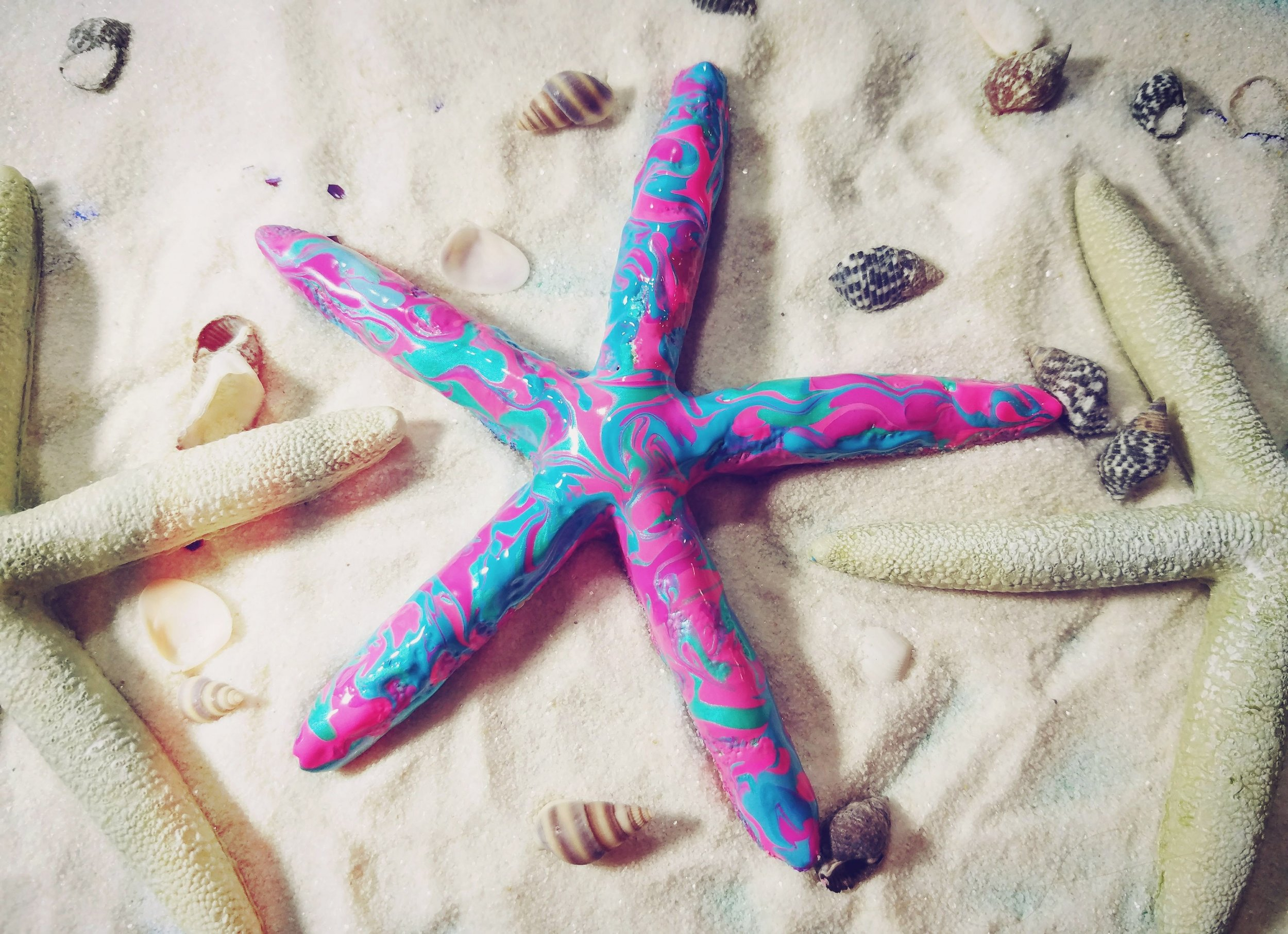 This starfish needs sunscreen.