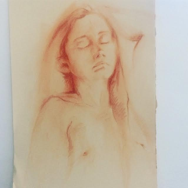 """Red Chalk on Paper, 18""""x30"""""""