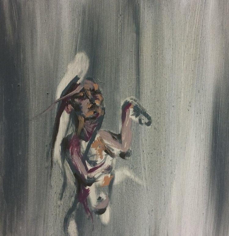"""Oil Paint on Wood Panel, 10""""x10"""""""