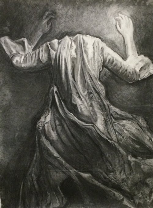 """Charcoal on Paper, 36""""x48"""""""