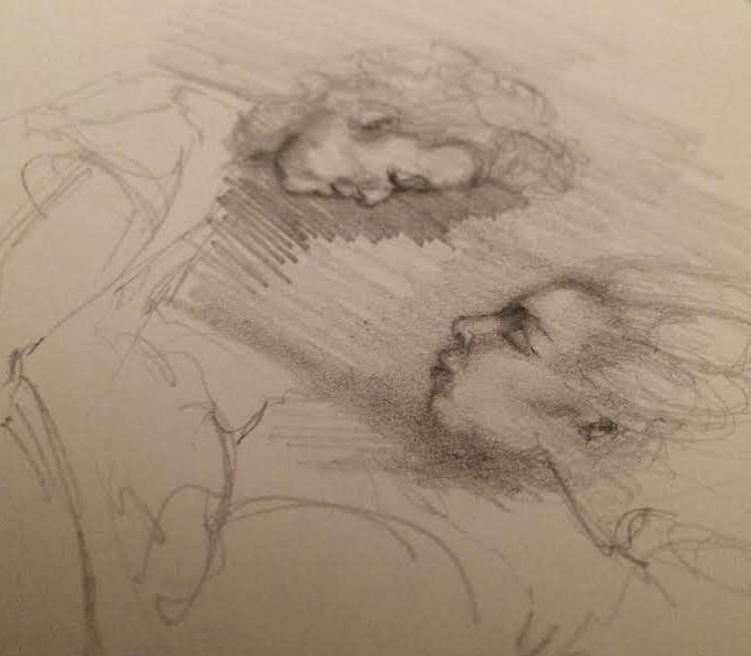 """Pencil Sketch, 5""""x4"""""""