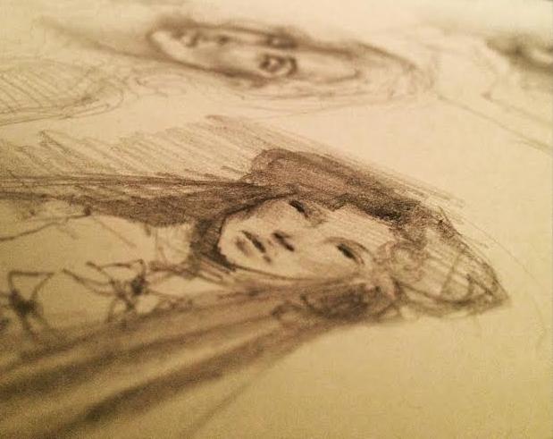 """Pencil Sketch, 3""""x4"""""""