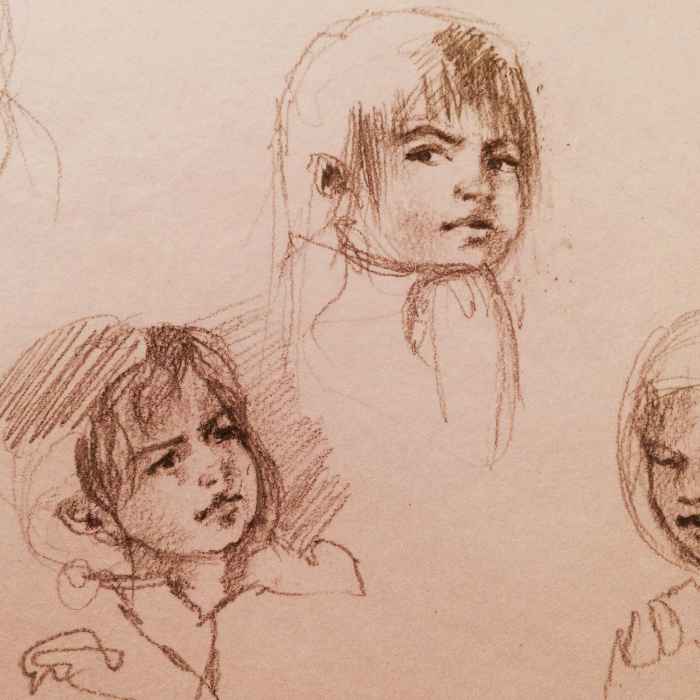 """Pencil Sketch, 2""""x2"""""""