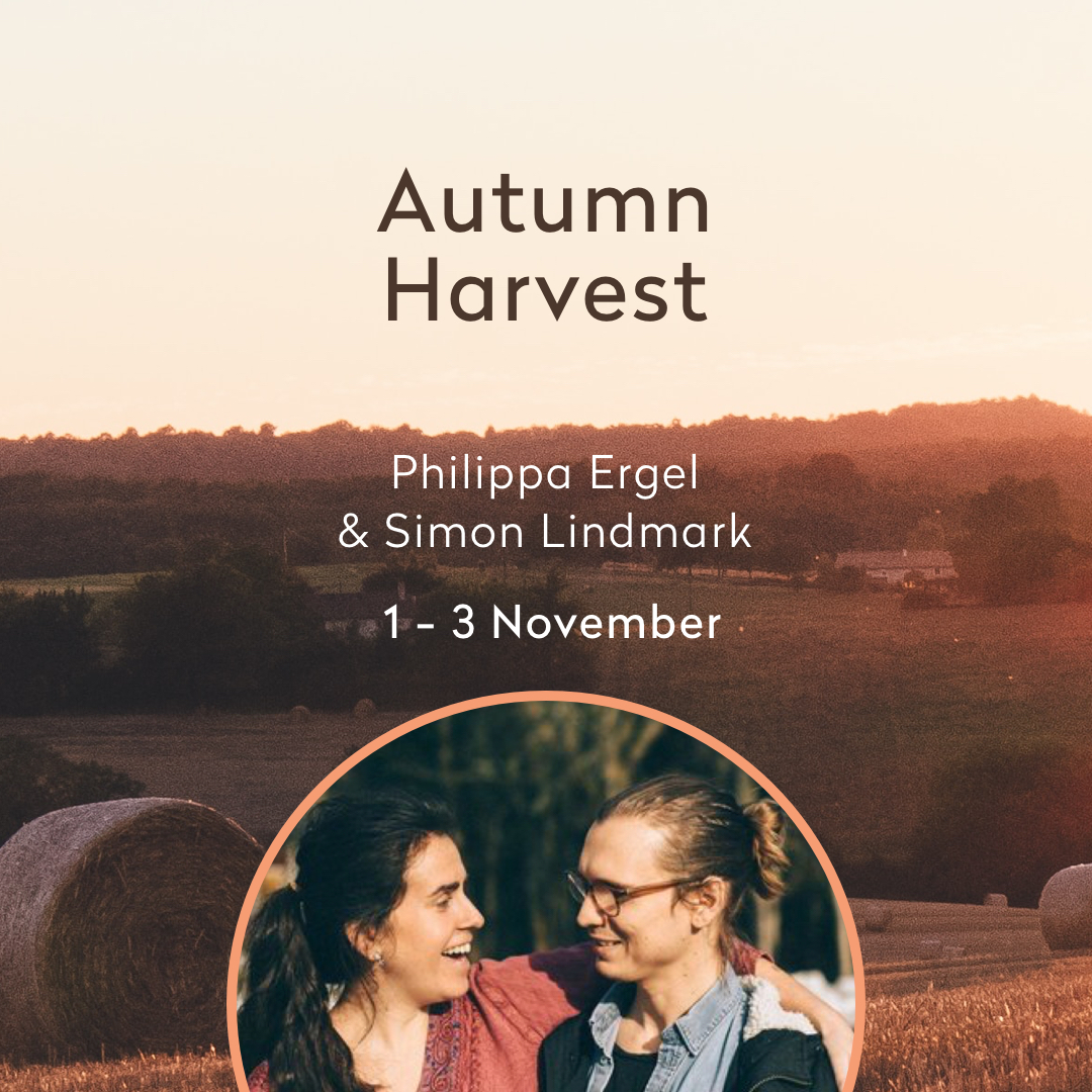 Harvest your energy - Nov - A weekend that is devoted to plant seeds of energy and self-love - through yin, restorative, mindfulness, slow flow yoga and sharing circles .Fins more info here (in Swedish)