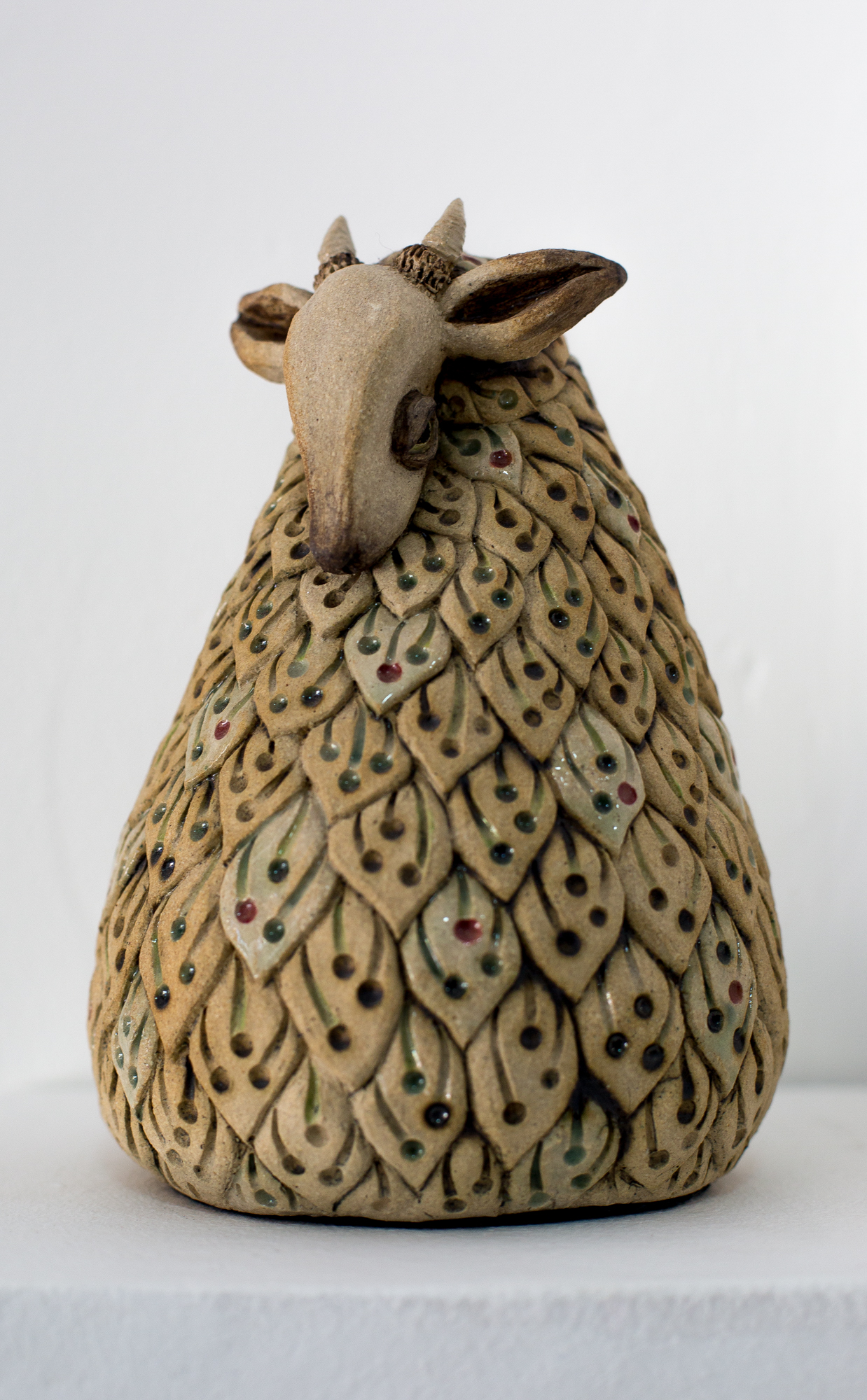 ' Gentle '   Alexis Aronson  Ceramic, under glaze and metal oxides  180 mm tall  R 5000.00 excl. vat