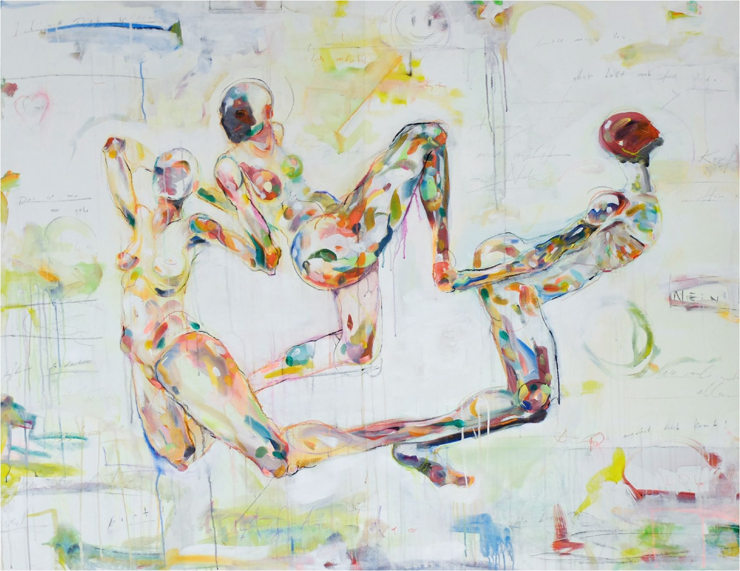 Dissociate   Philipp Pieroth  Acrylic, aquarelle and charcoal on canvas  1400 x 1800 x 40 mm  Price On Request