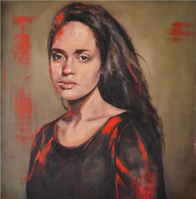 Portrait  of Kelly Robertson   Caelyn Robertson  Oil on Canvas      1200 x 1500 x 45 mm  R 30 000.00 excl. vat