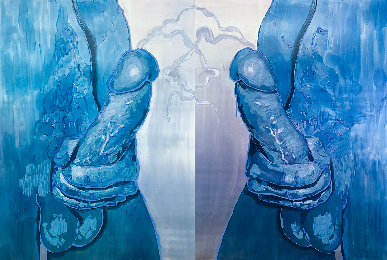 The Man In The Mirror   Lizza Littlewort  Oil on Aluminium  800 x 620 mm  R 12 000.00 excl. vat   2018
