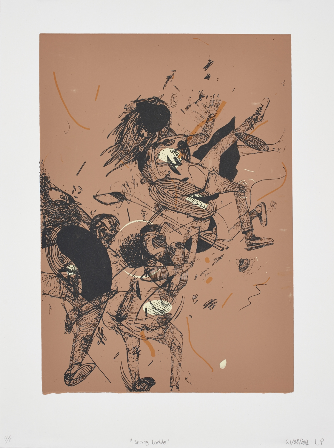 Spring Tumble   Lisolomzi Pikoli  Silkscreen on paper  Edition of 44  R 3 200.00 excl. vat