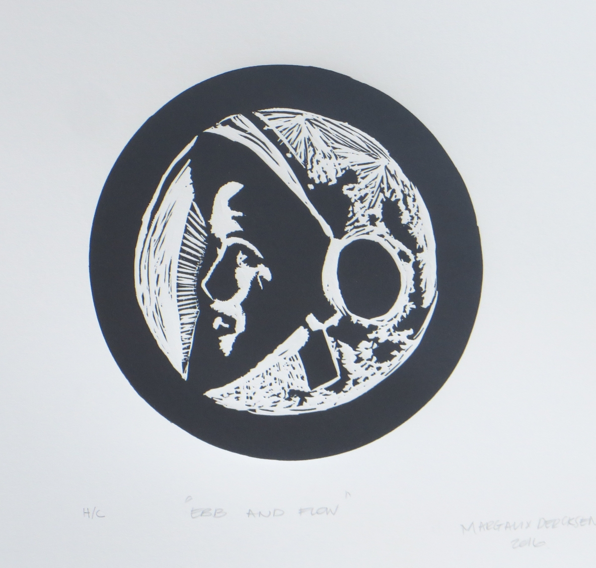 Ebb and Flow   Margaux Dercksen  Linocut  335 x 335 m  Edition of 20  R 1340.00 excl. vat