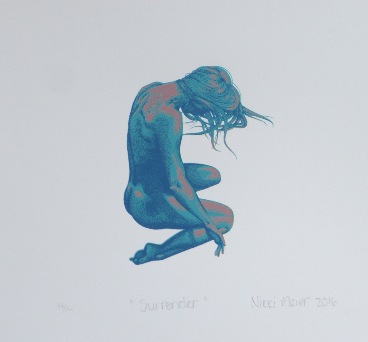 Surrender   Nikki Meier  Silkscreen  335 x 335 mm  Edition of 20  R 1 340.00 excl. vat