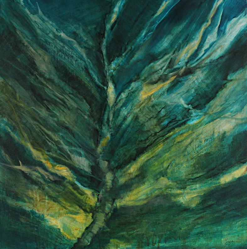Inscape  Oil on  120x 120 cm