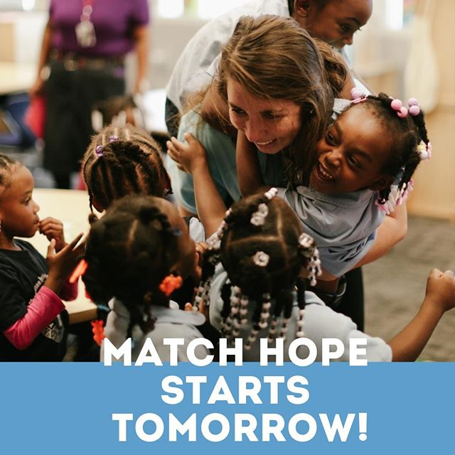 Match Hope launches TOMORROW! Help us reach our goal of $10,000 each dollar will be matched dollar for dollar! Stay tuned for more info on how you can donate and events going on!