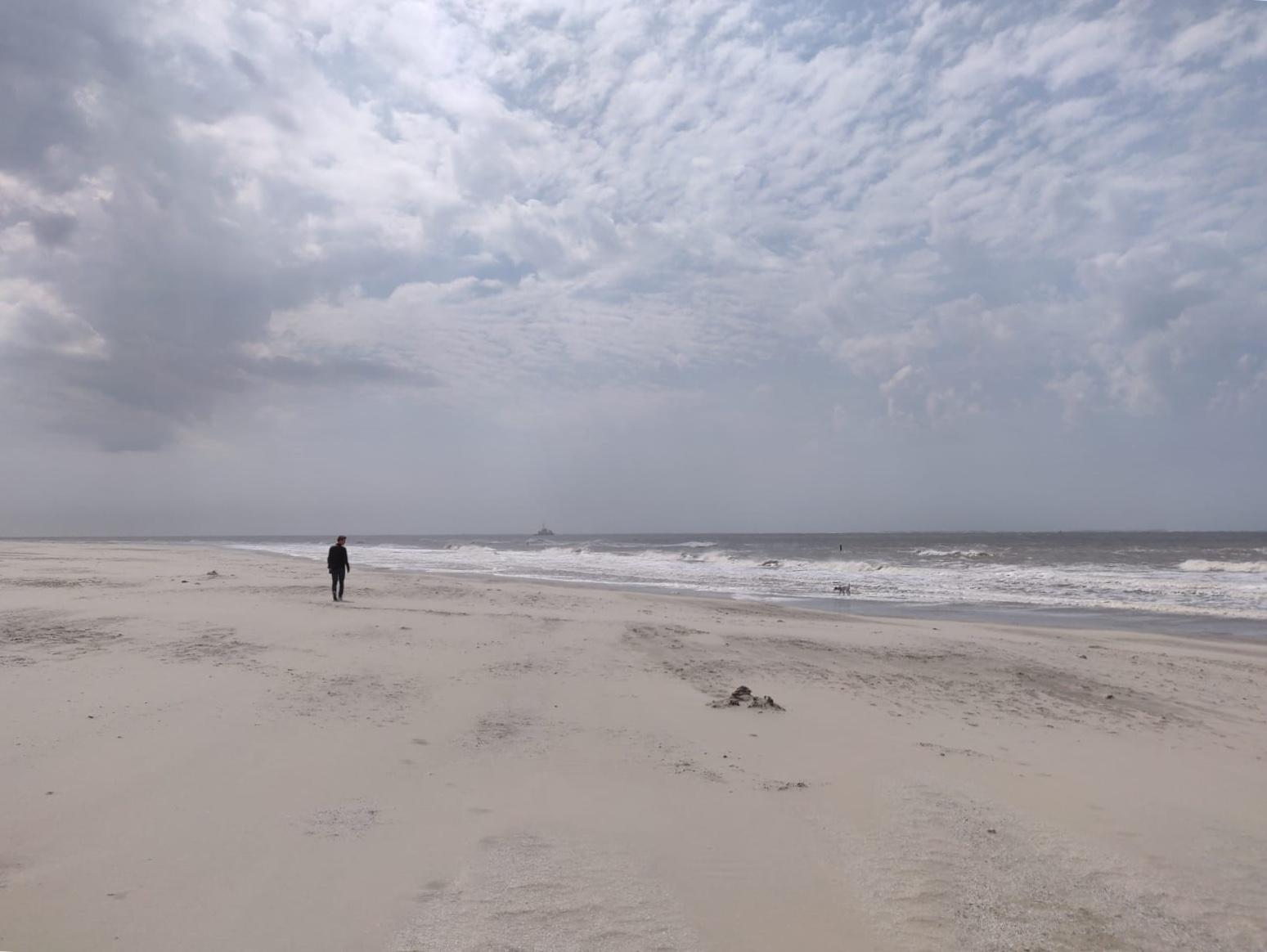 Het brede strand van Ameland