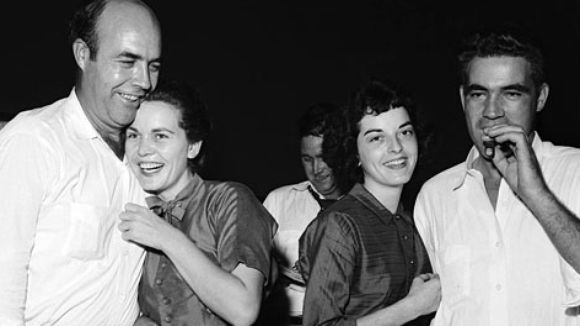 J.W. and Juanita Milam and Carolyn and Roy Bryant after the trial.     (Photo: AP)