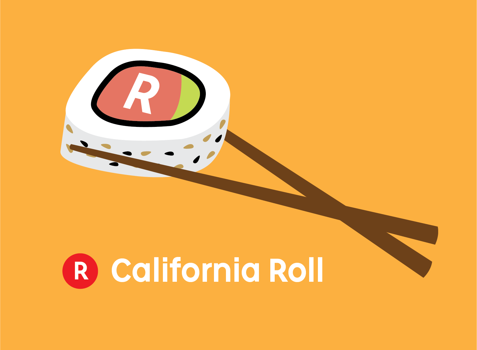 Rakuten California Roll team logo   Adobe Illustrator