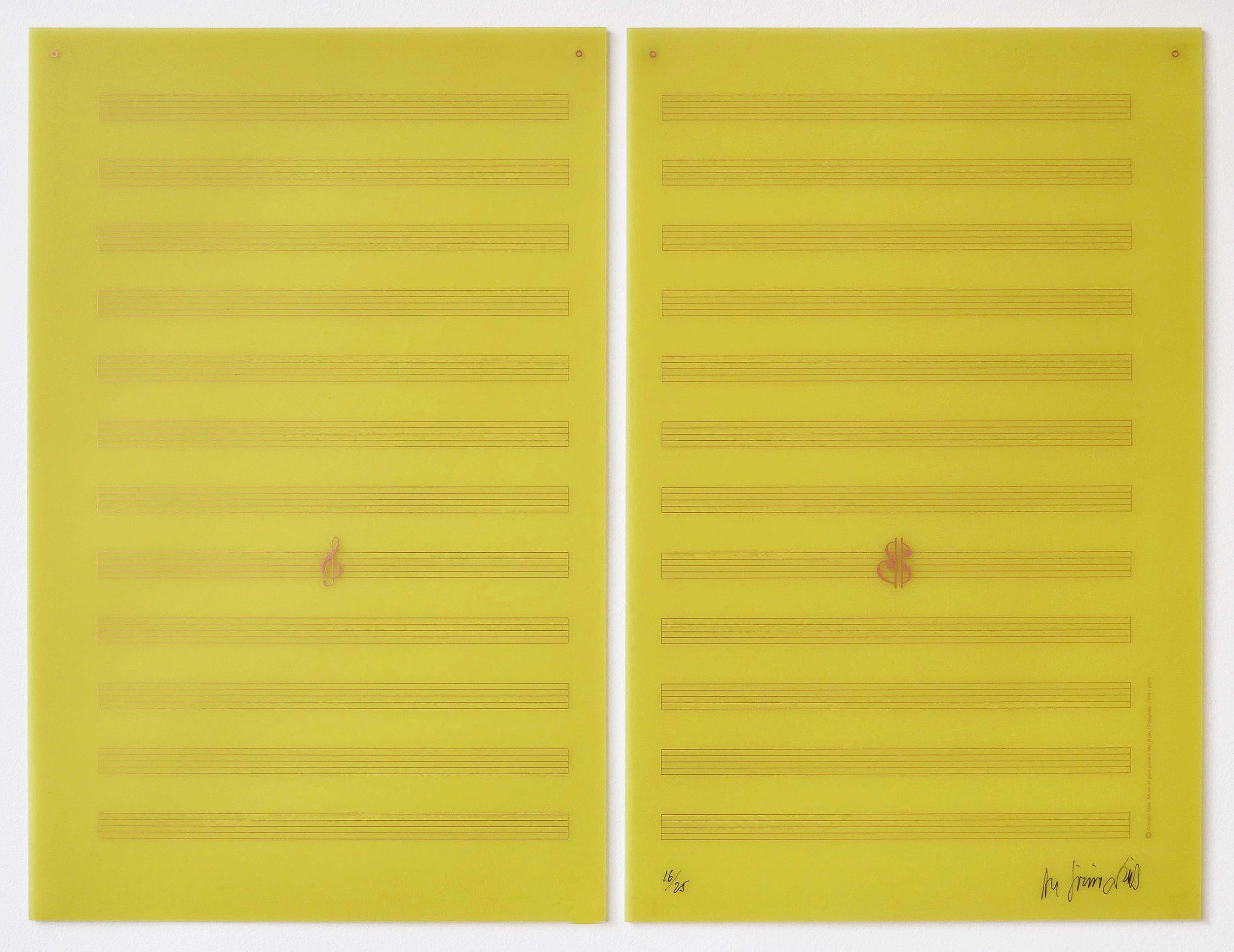 Mul.ti.plo Espaço Arte. Antonio Dias, Music in Your Pocket , 2015