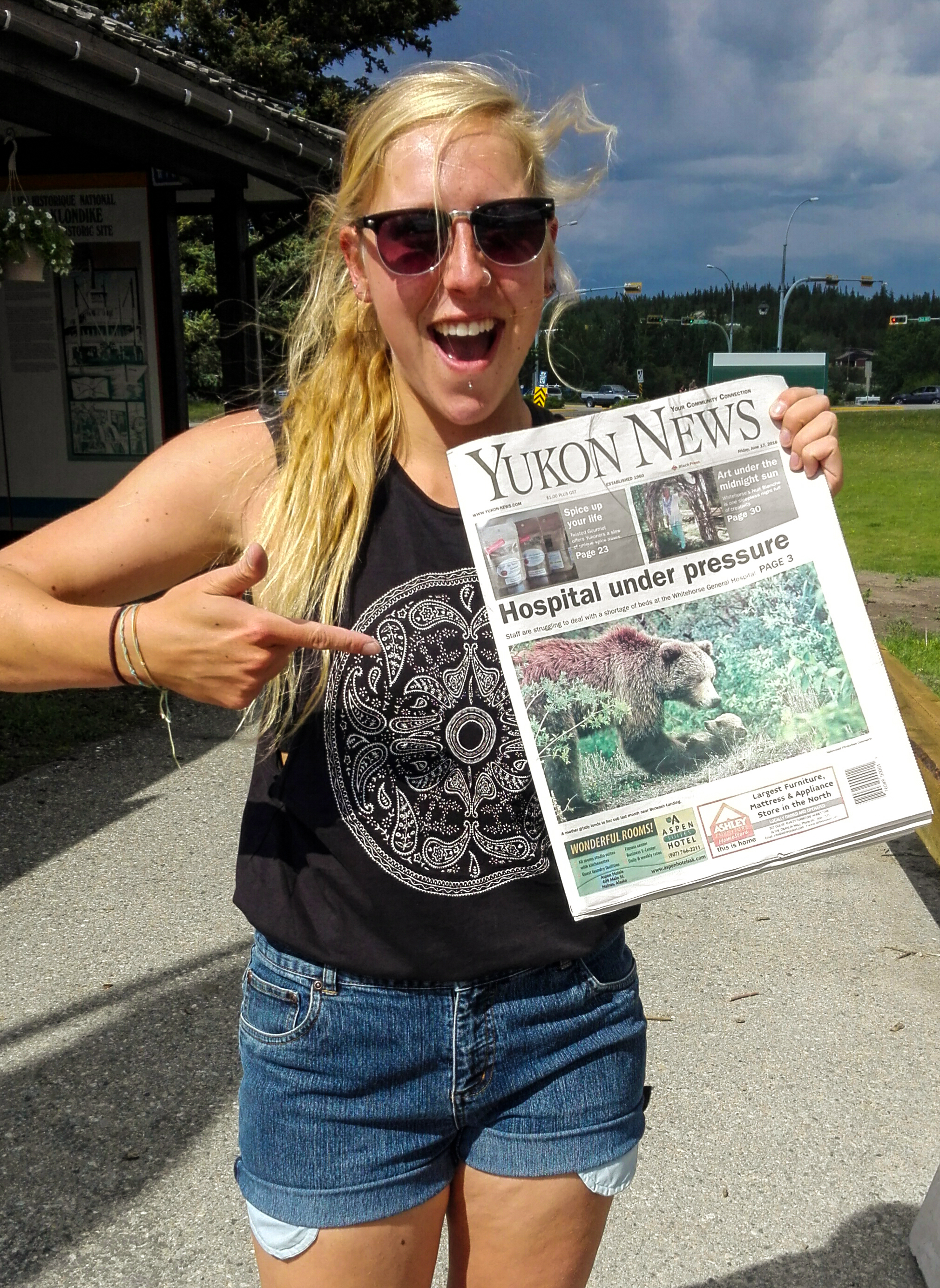 """""""Yukon News"""" Front Page June 2016"""
