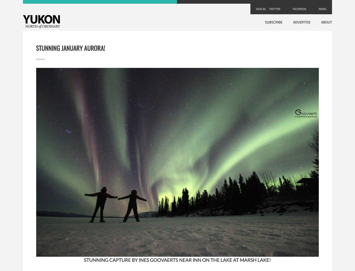 Yukon, North of Ordinary website.jpg