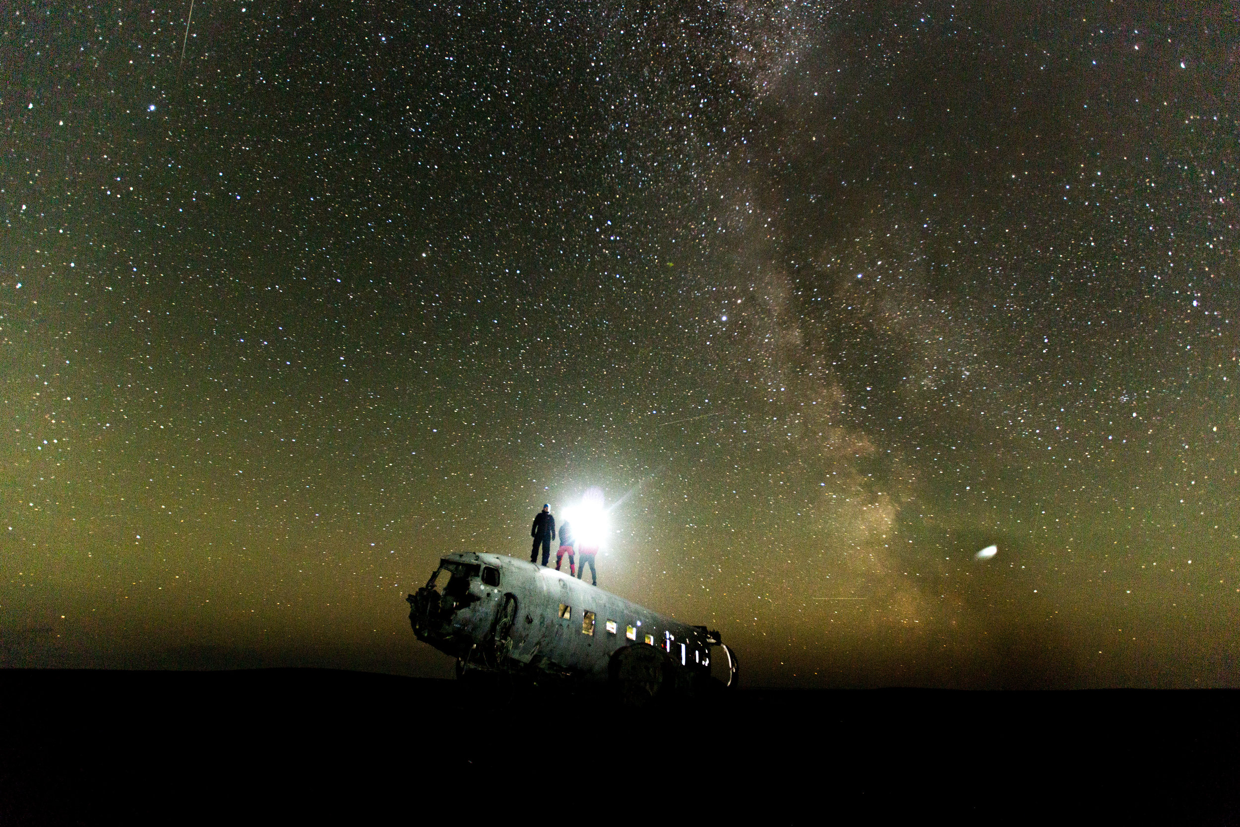 Plane Wreck by night