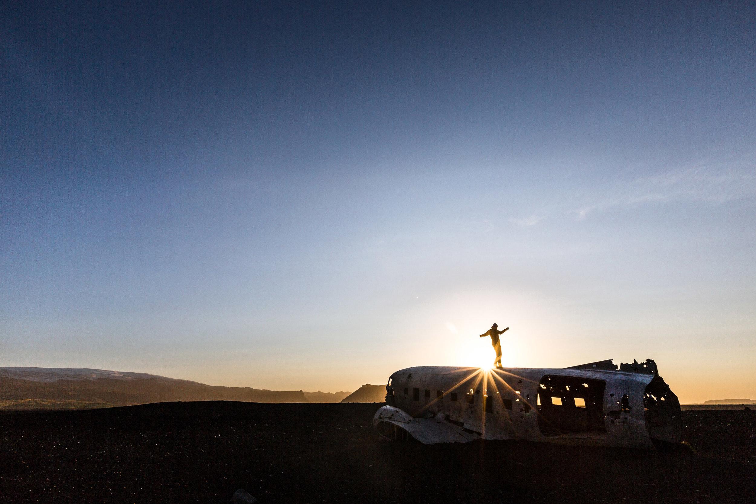 Plane Wreck sunrise