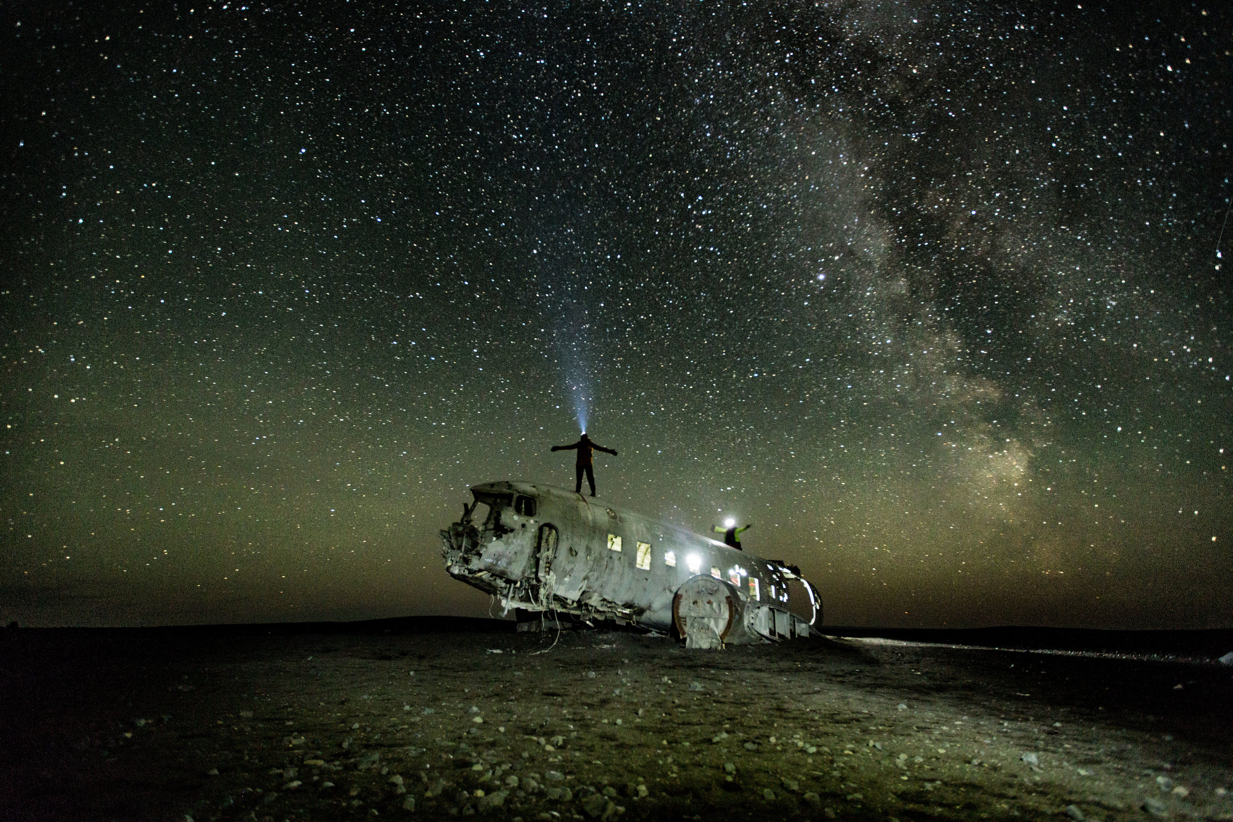 Plane Wreck by night II