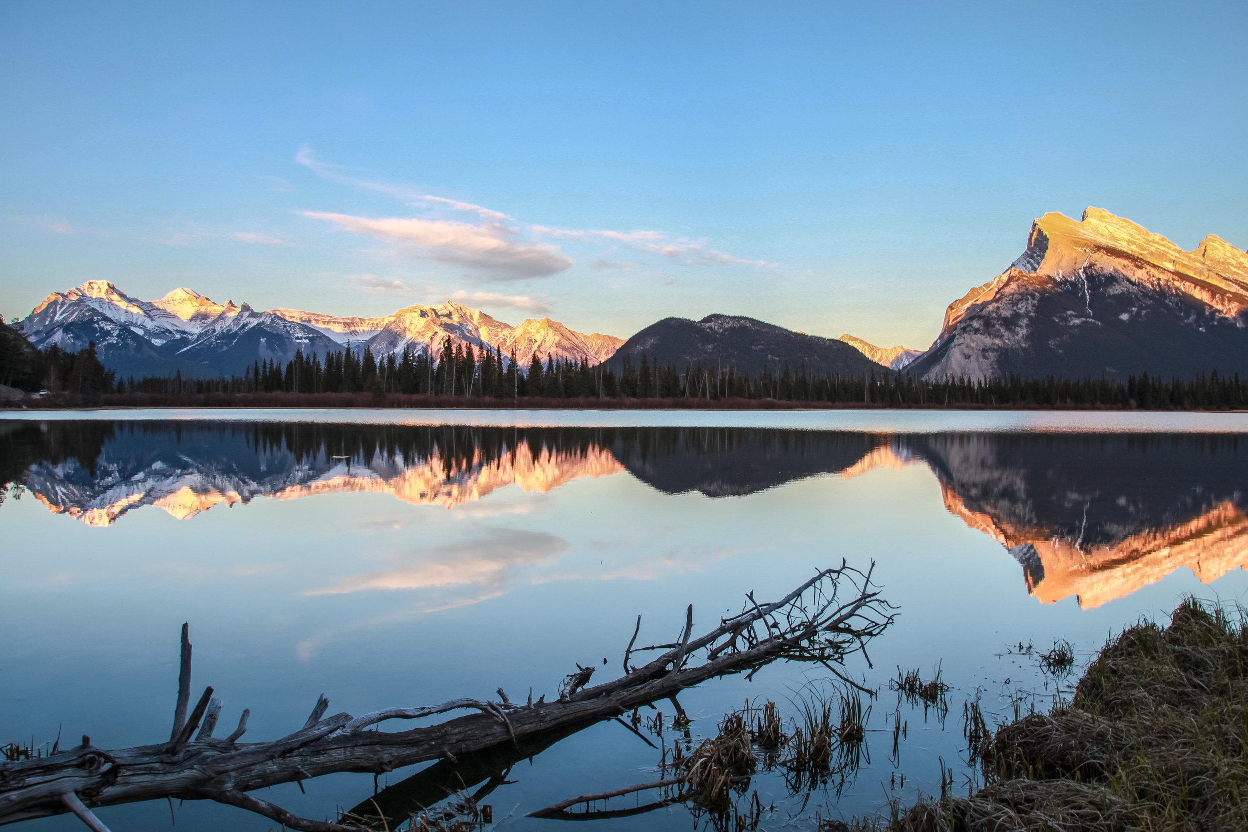 Vermillion lakes Sunset II