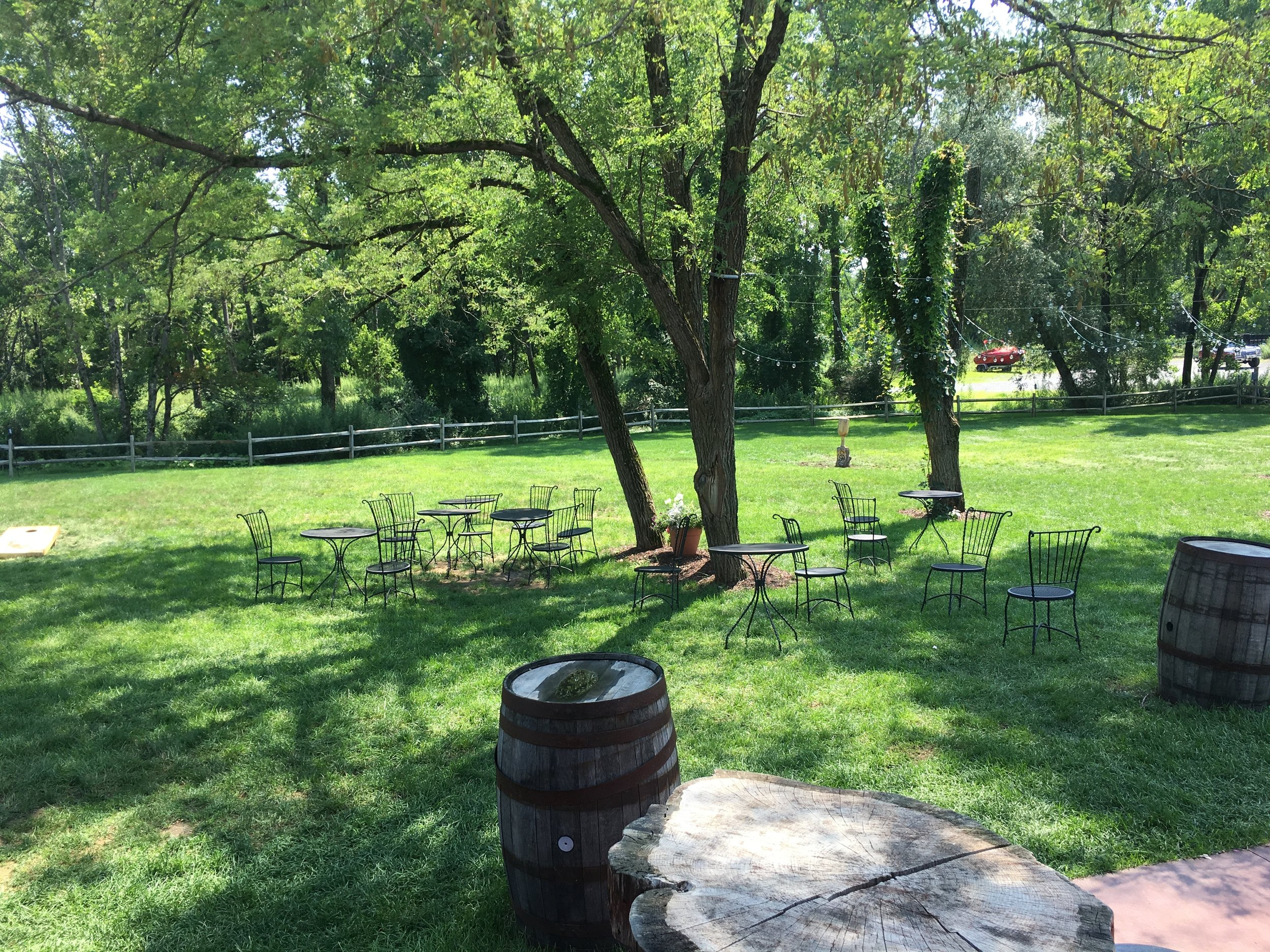 Outdoor Seating at the Winery