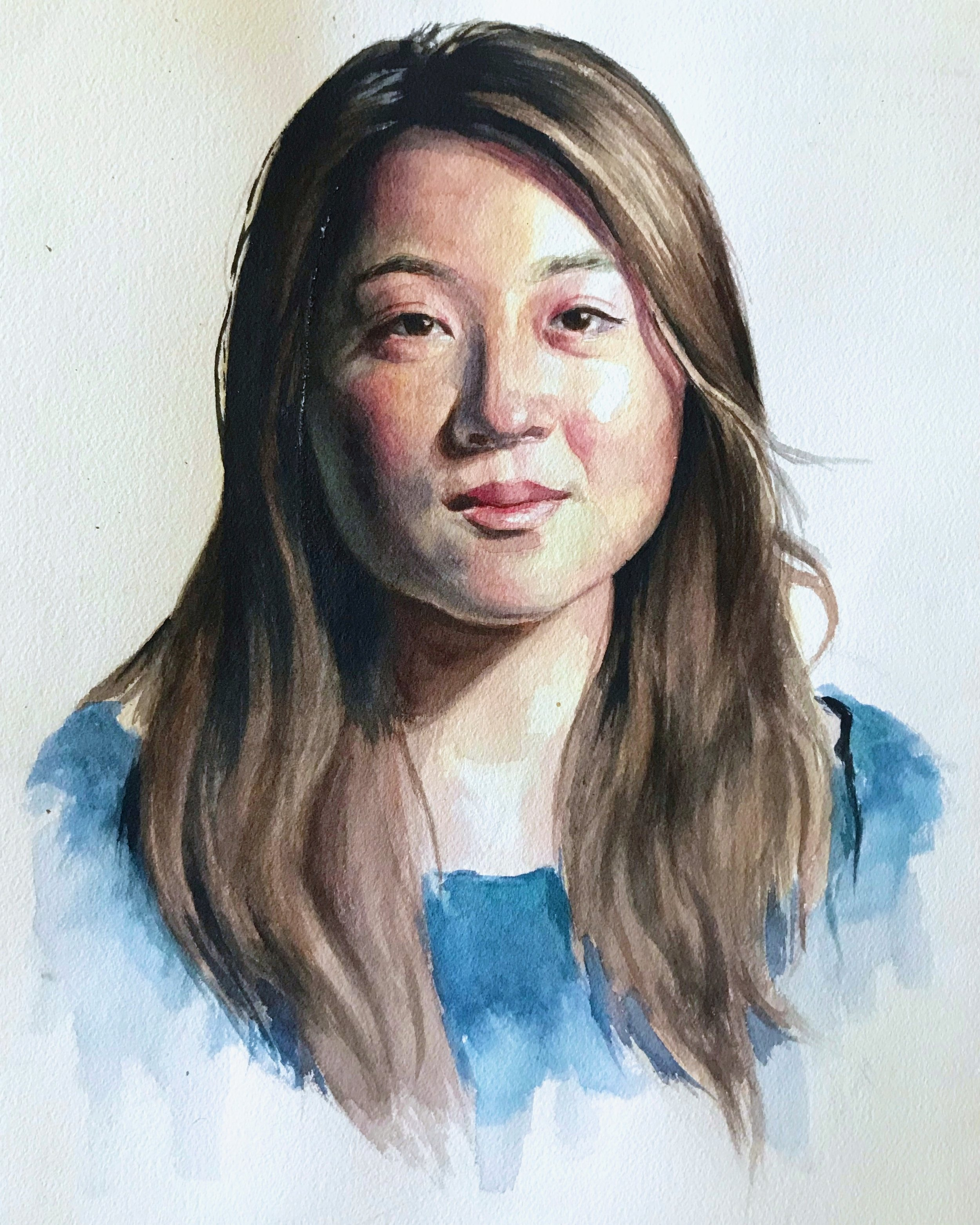 Lisa In Watercolor