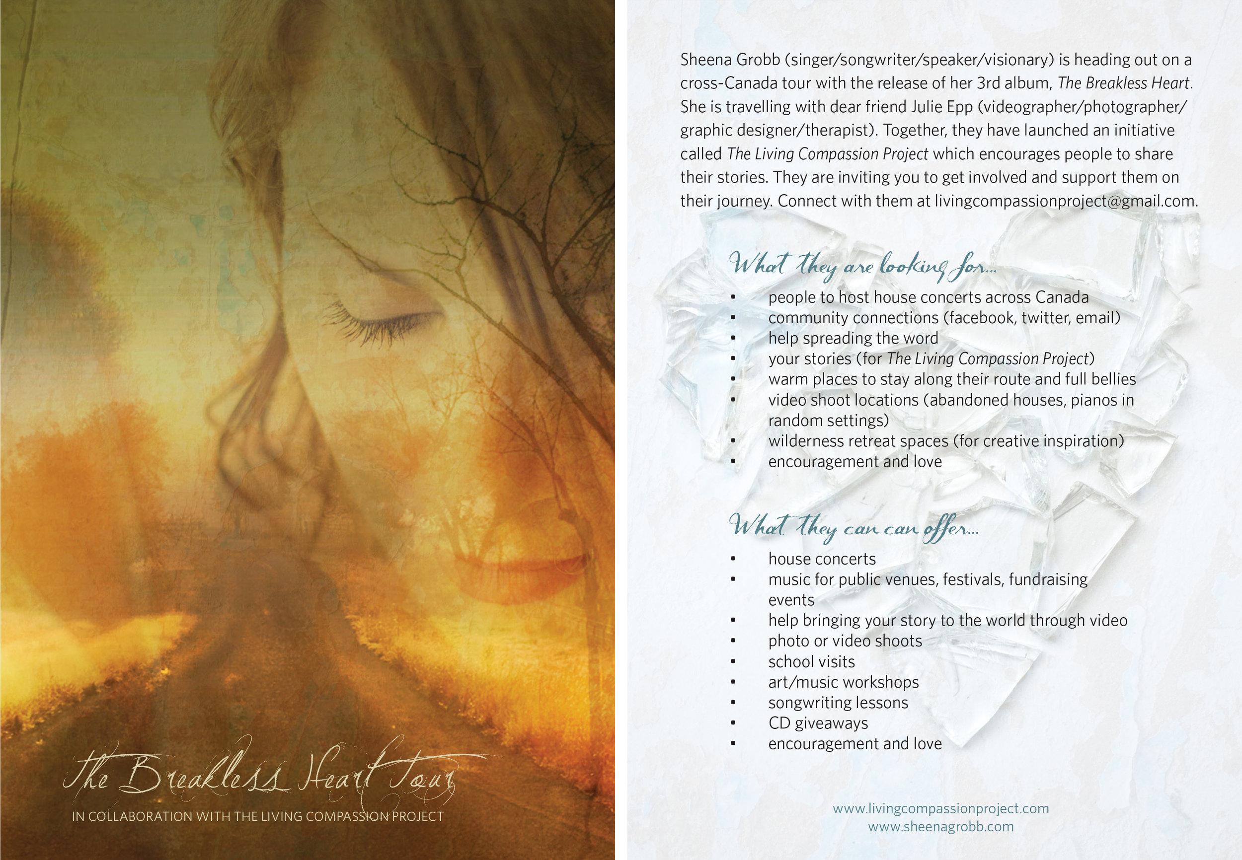 Sheena Grobb - tour postcard