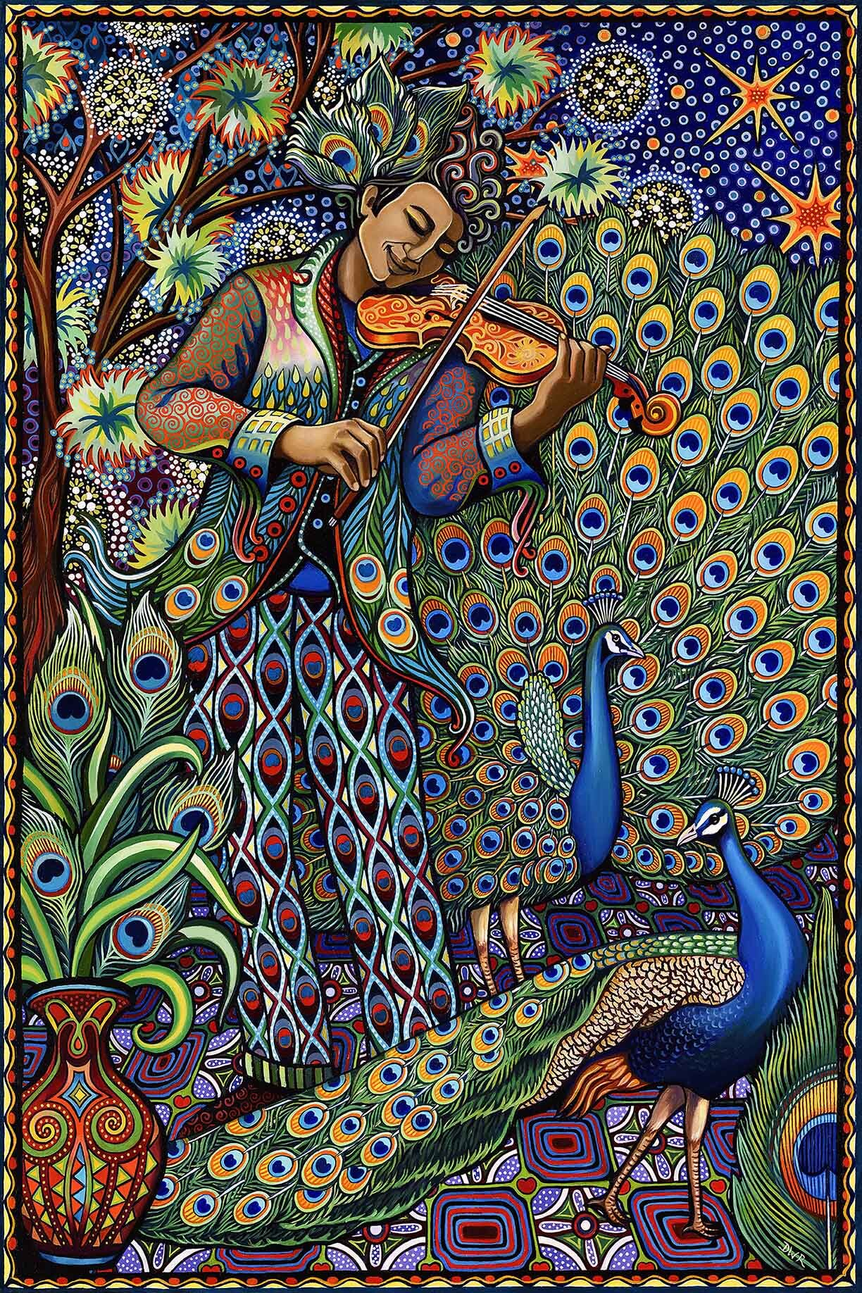 """""""The Serenade"""" 36"""" x 24"""" oil painting"""
