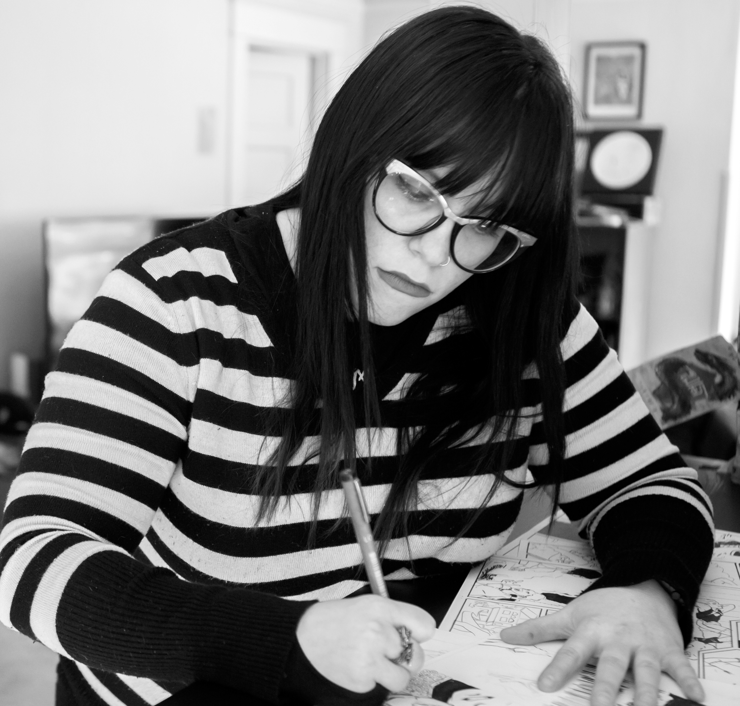 Jen - Ranger - Jen is a freelance cartoonist and game designer at Haunted Vault Studios. Her recent gaming credits include Episode, Nicki Minaj: The Empire, Plants vs Zombies. From drawing Betty & Veronica's Vixens to creator-owned Teenage Wasteland, Jen's comics can be found at any comic book store or online at comiXology. Follow her on Instagram/Twitter @TheJenya.