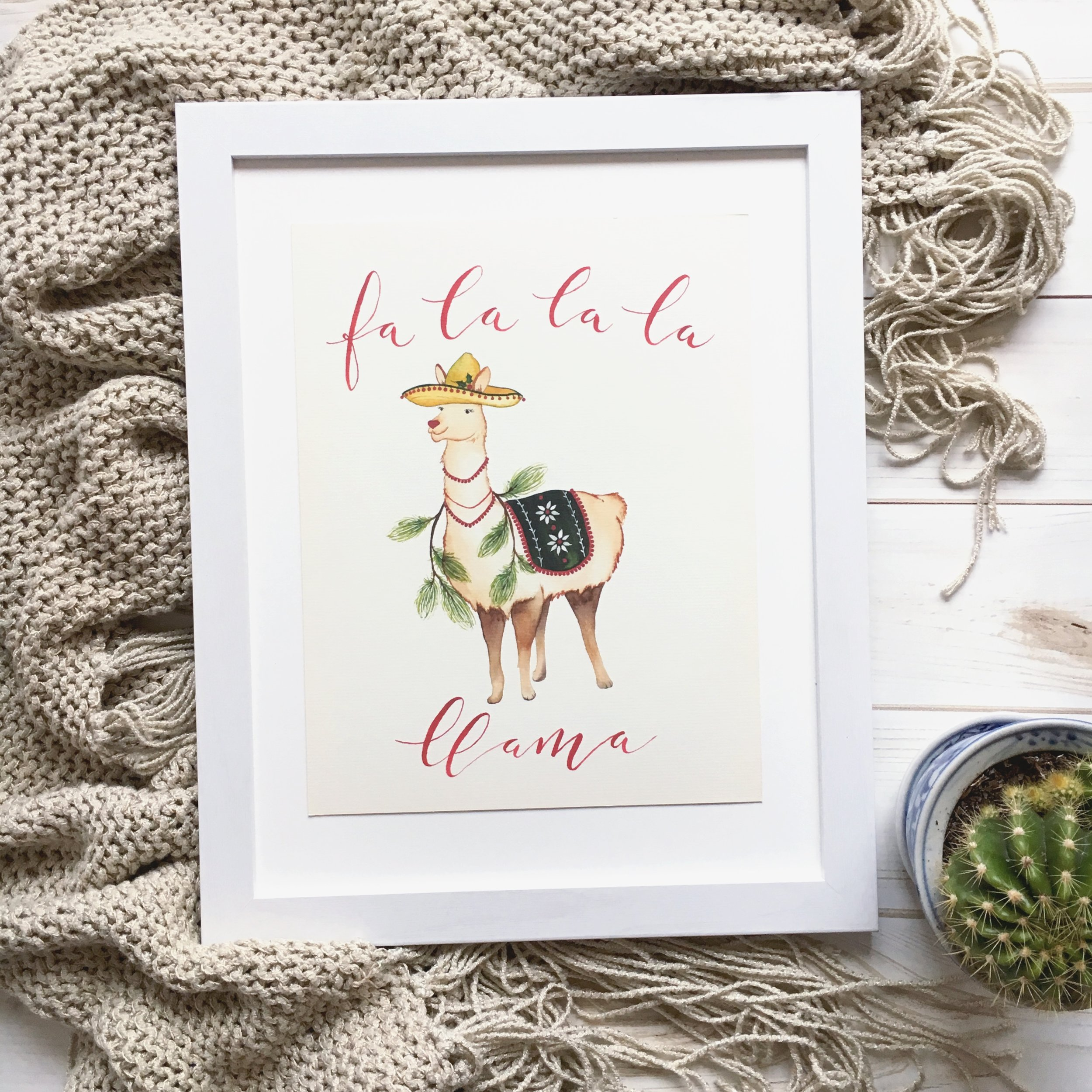 It's so cute! - I'm in love with my llama print! It's so cute. Item shipped quickly and arrived in perfect condition!— D.P.