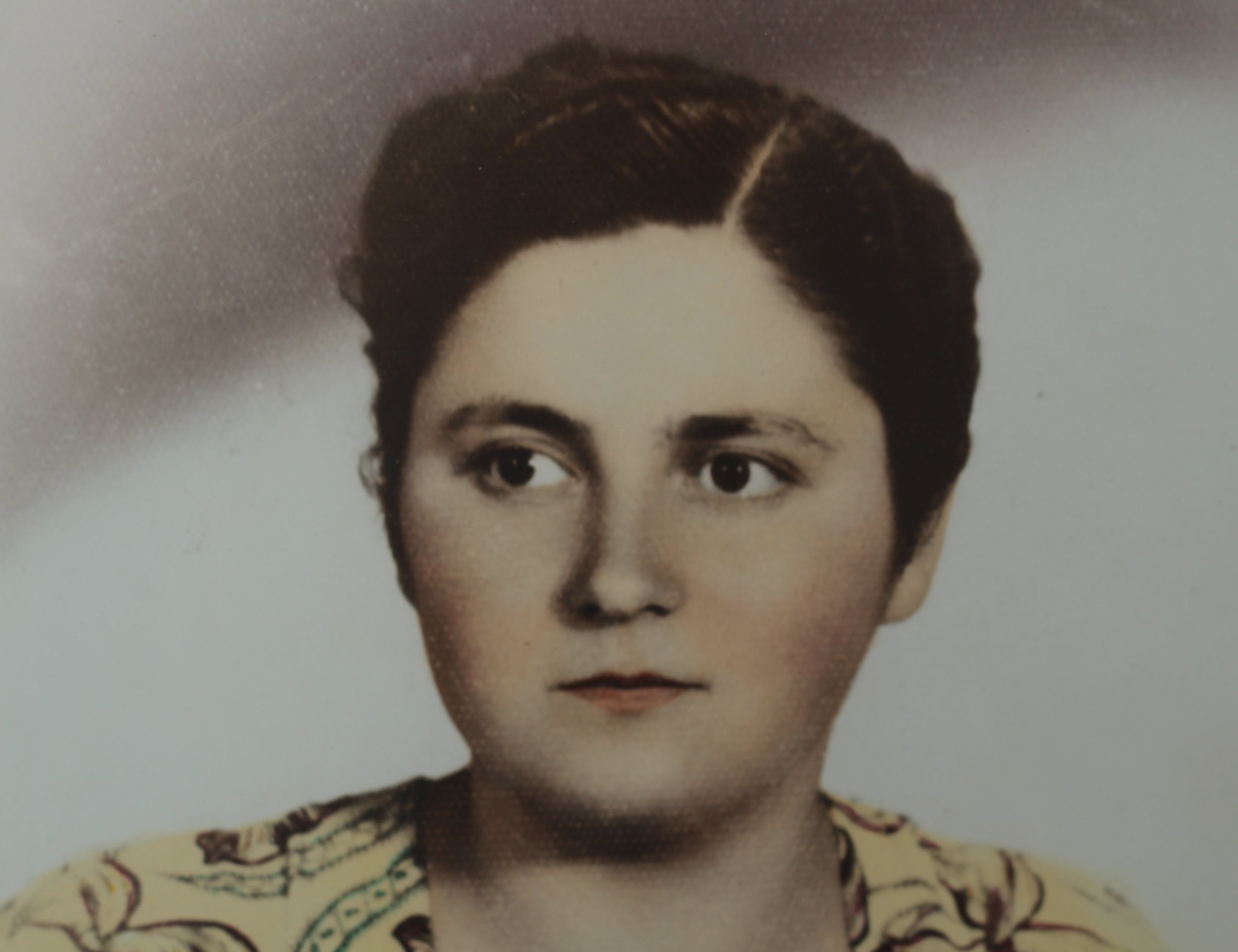Voula in her younger years in a tiny Greek village called Vlahokeresia