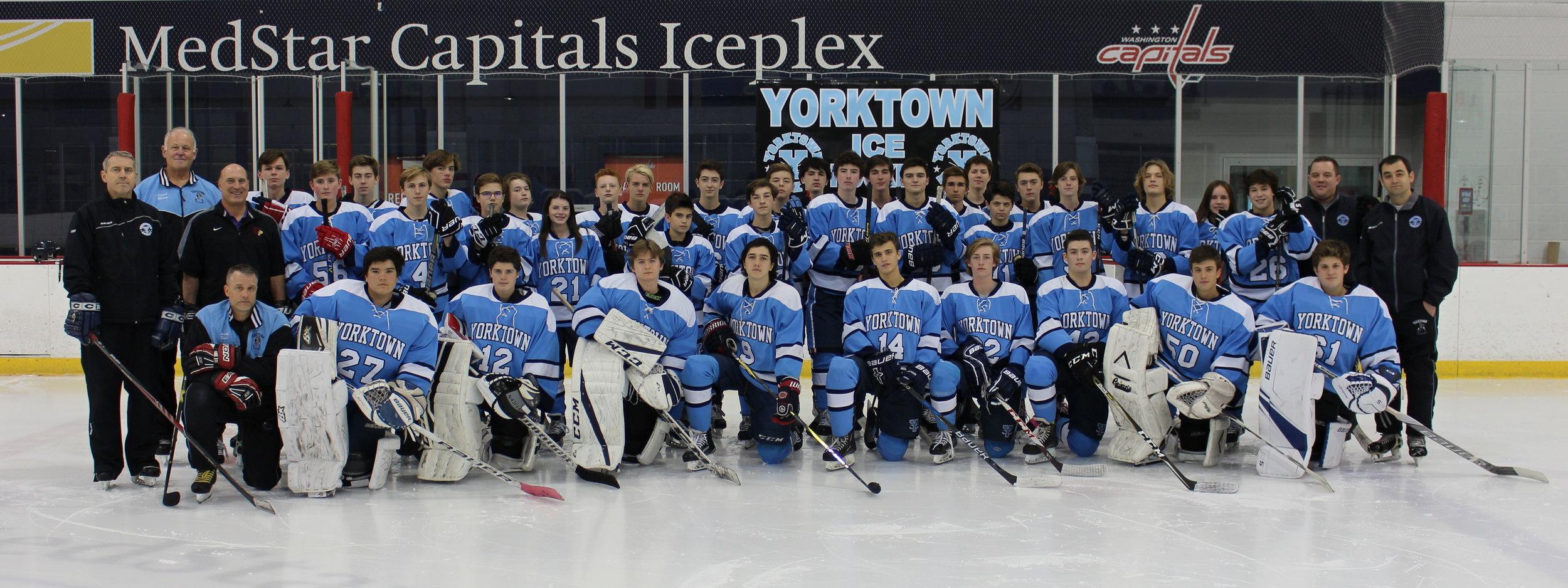 2018-19 Yorktown Patriots Ice Hockey Team