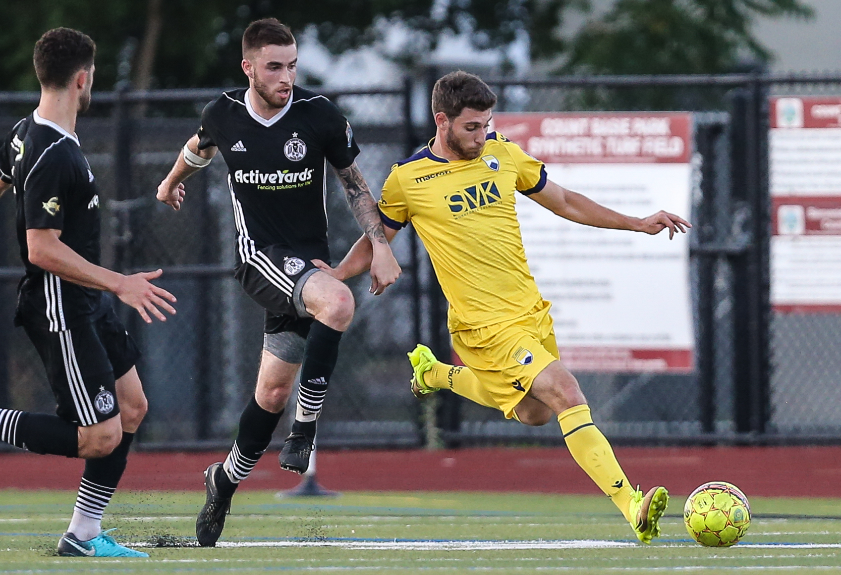 Own Gaynor with a clearance in the essential win against West Chester United SC