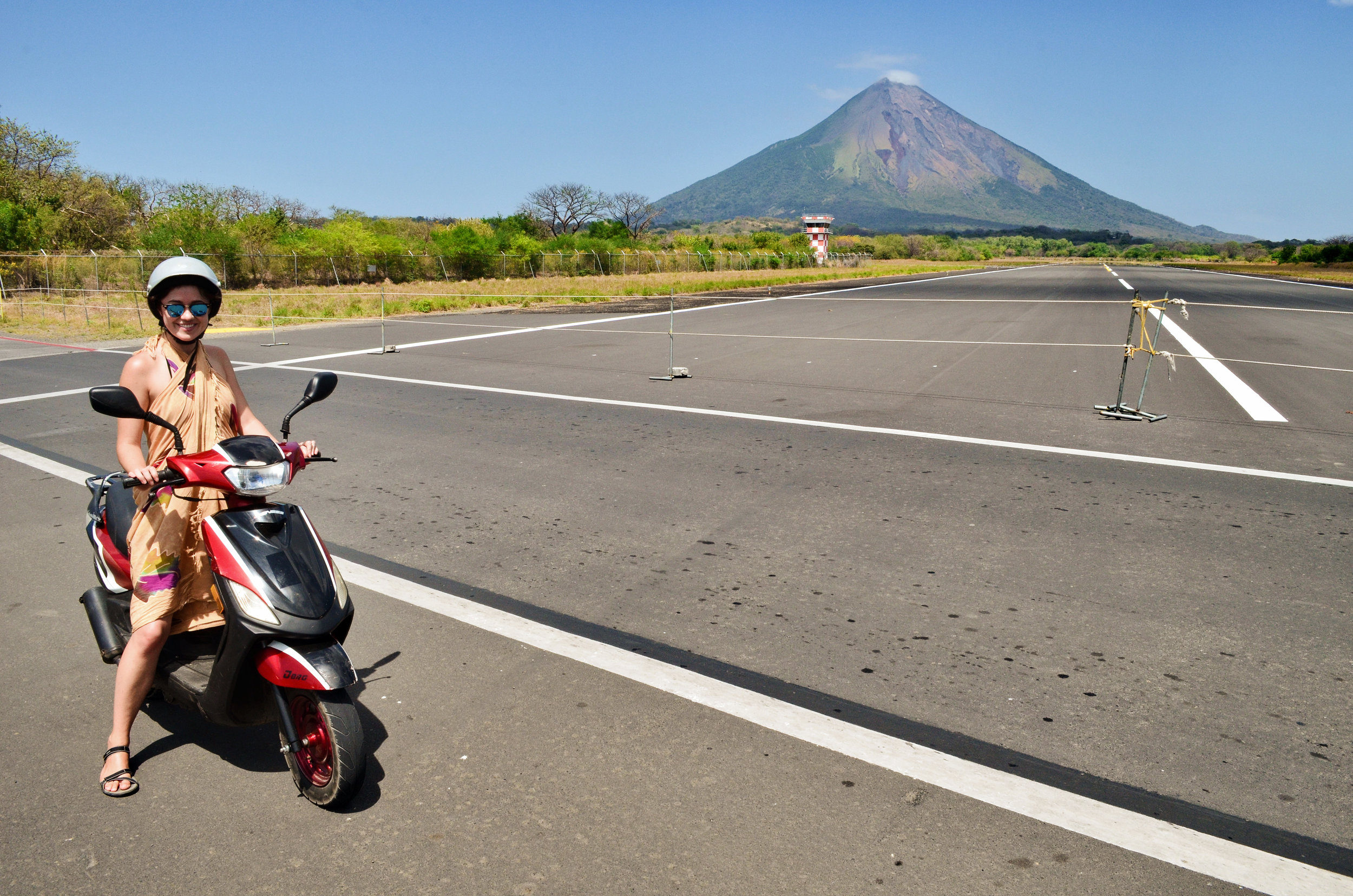 One of the best views of Volcán Concepción can be seen from the airstrip of the island's airport.