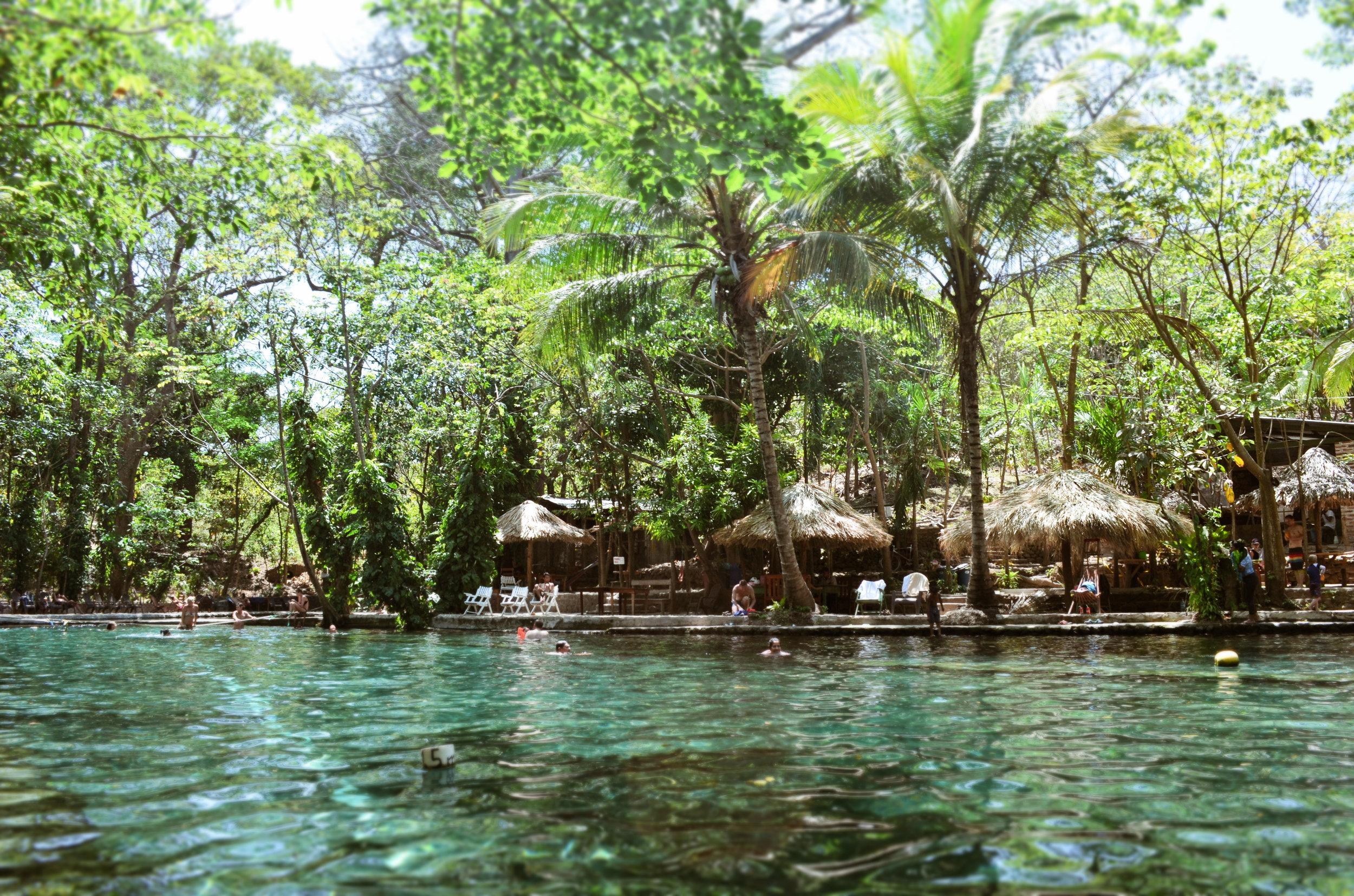 The swimming pool at Ojo de Agua.