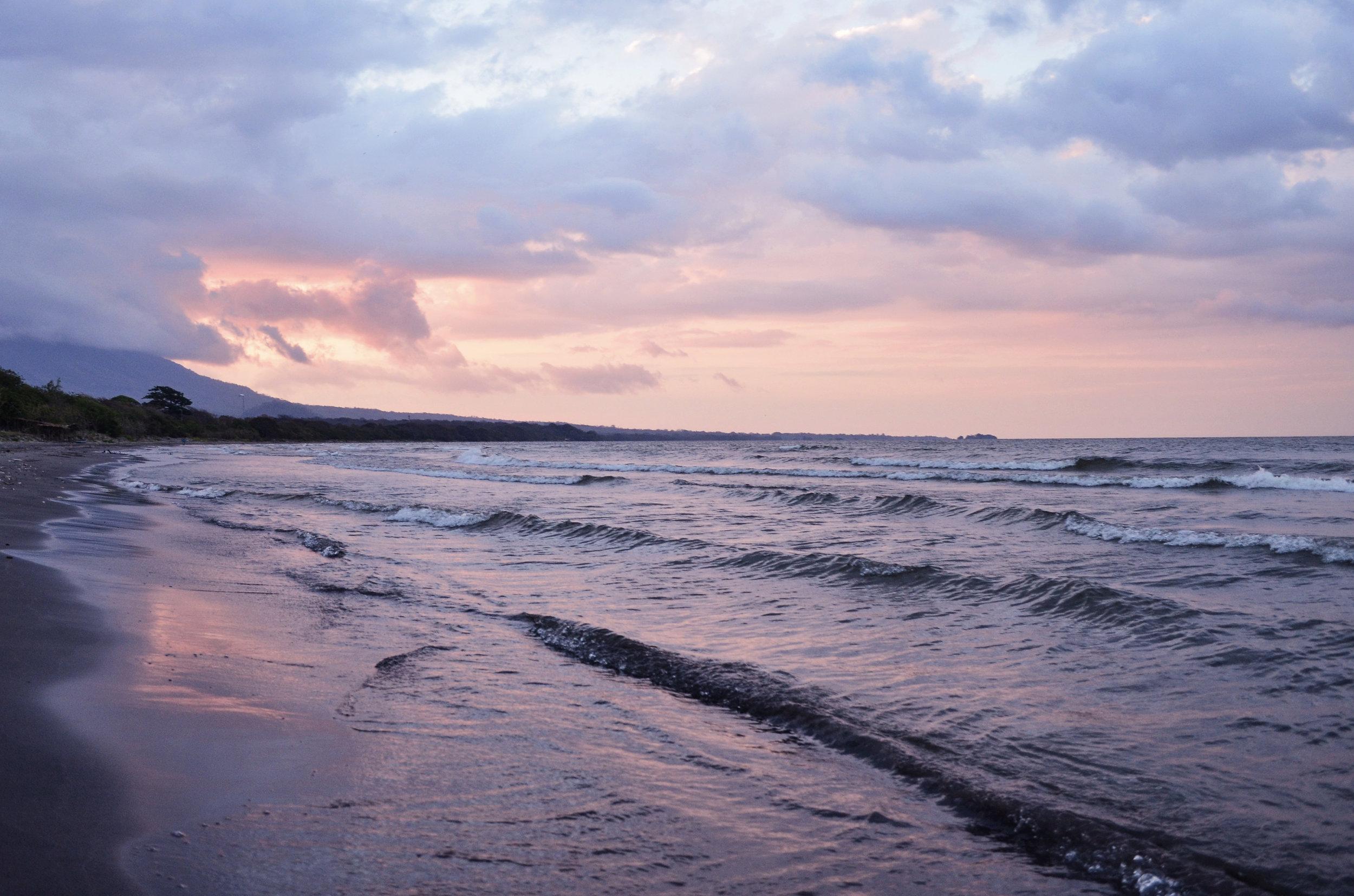 Playa Santo Domingo at sunset.