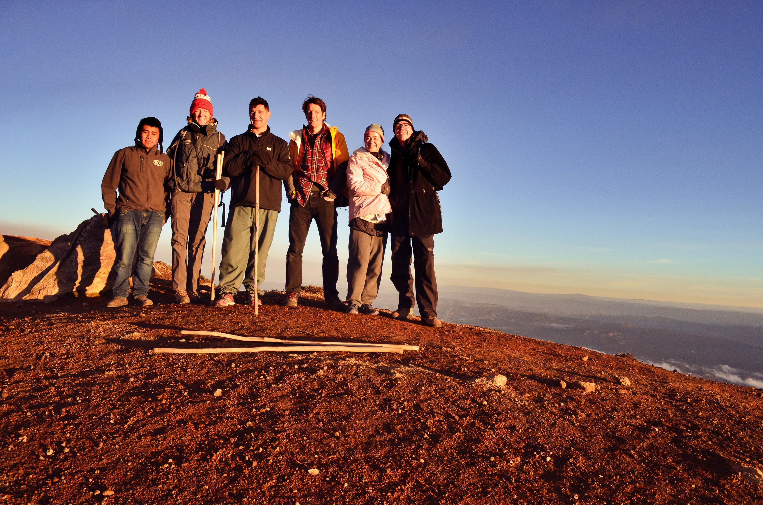 Our group at the summit of Acatenango