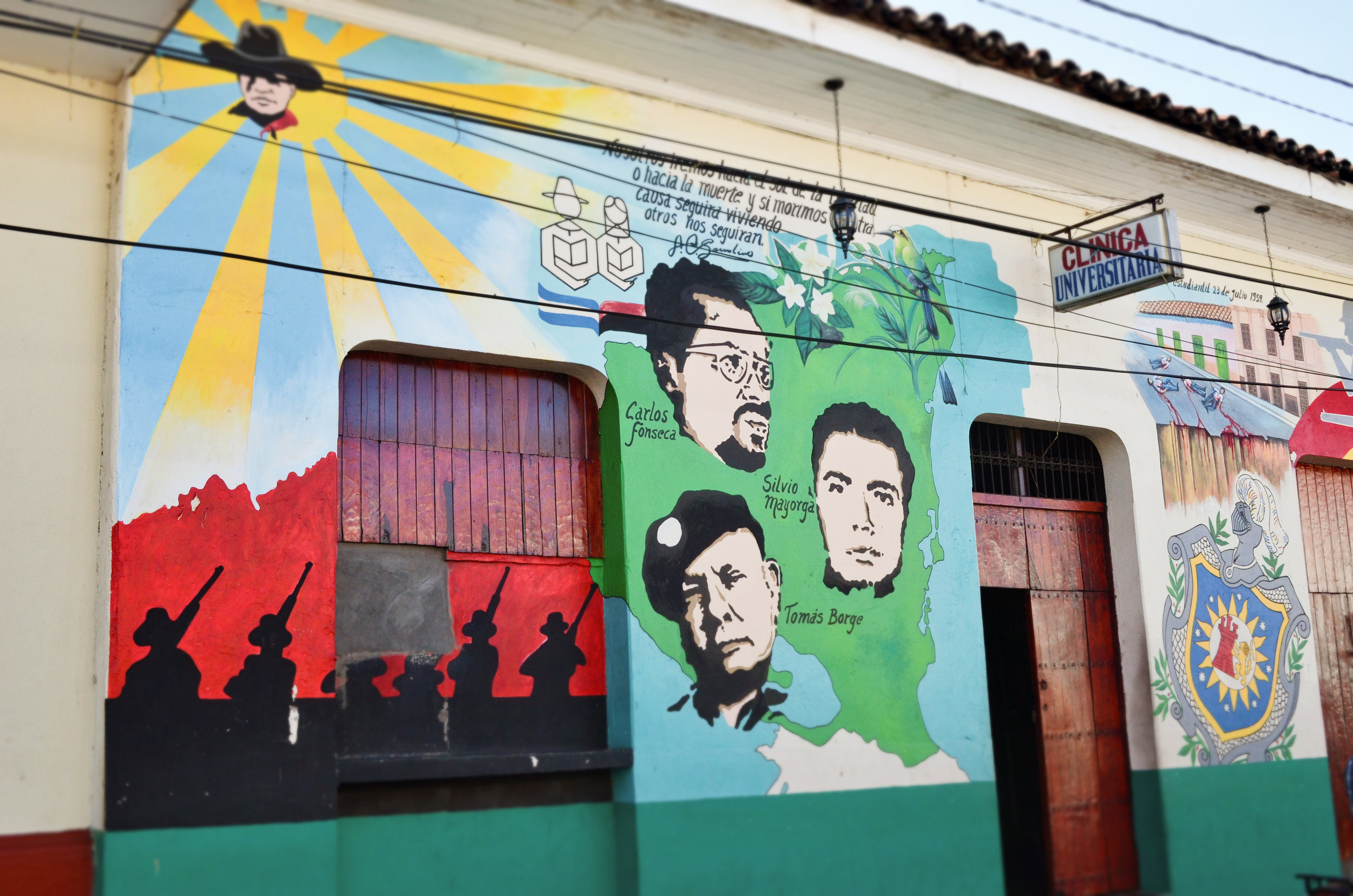 Revolutionary murals decorate the streets of León