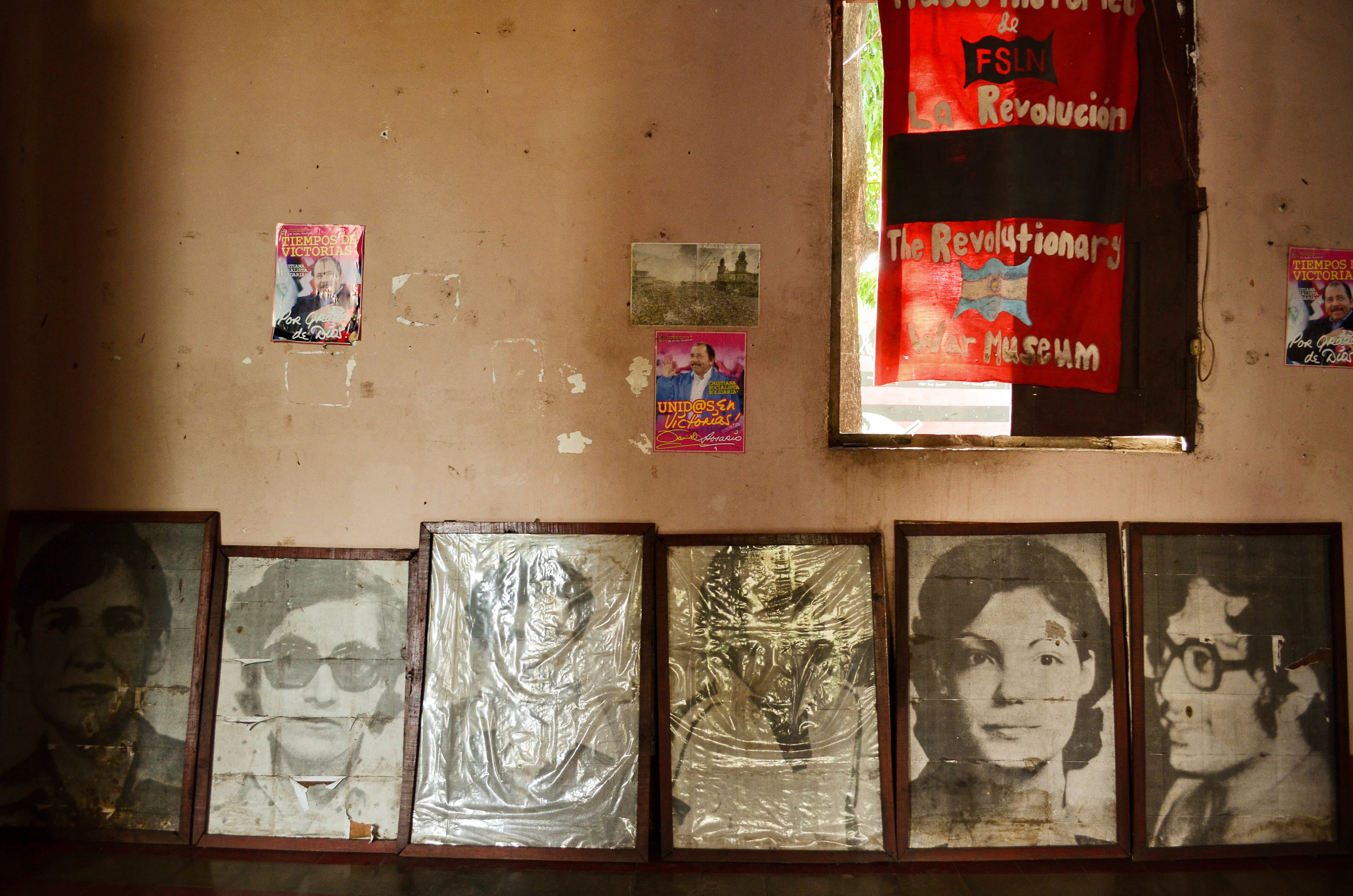 Photos of people who were killed or disappeared during the revolution are on display in the Museum of the Revolution